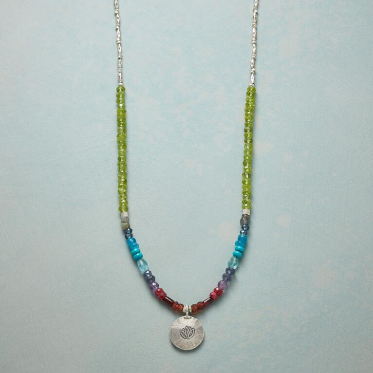LOTUS RAINBOW NECKLACE