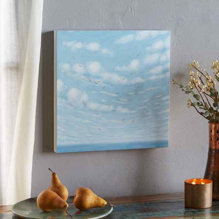 HIGH ABOVE THE SEA PAINTING