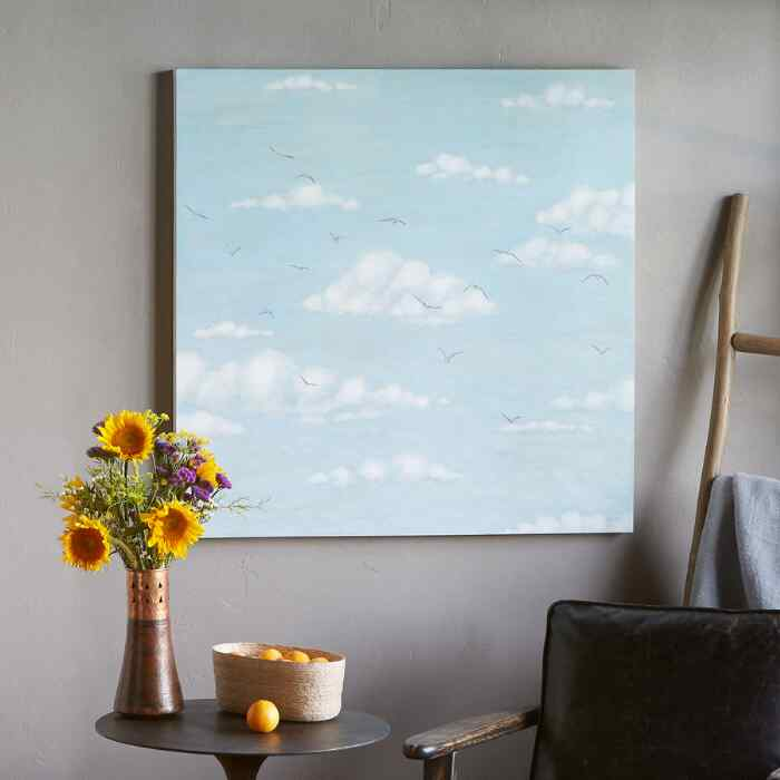 SOARING ABOVE THE CLOUDS PAINTING