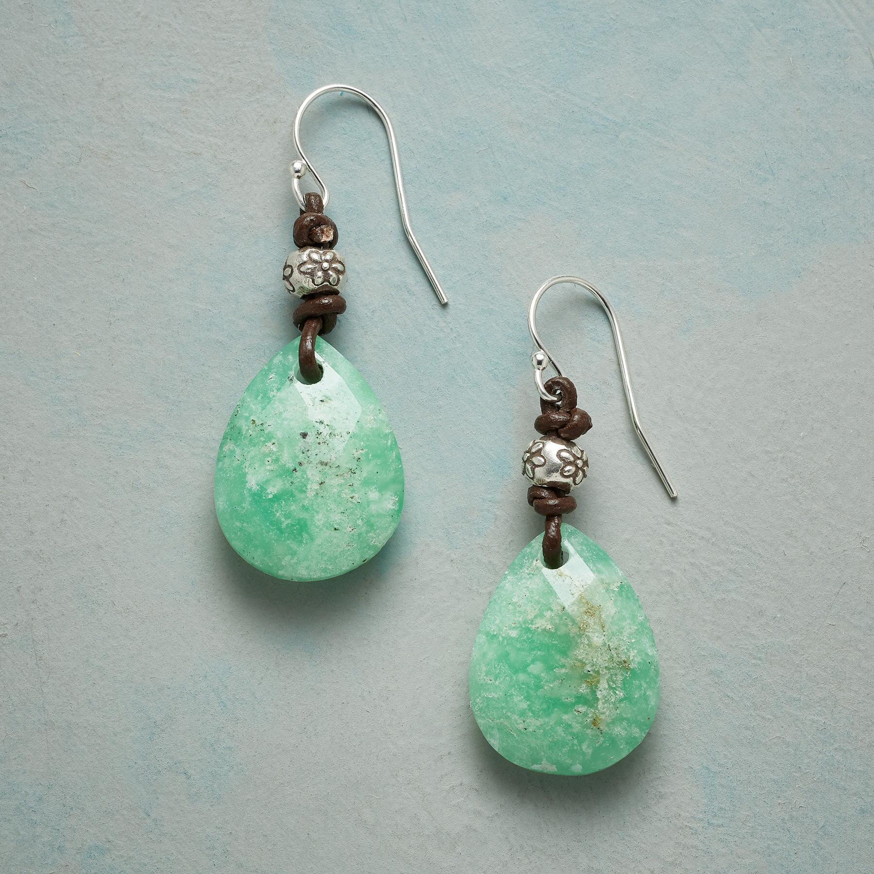 FLORA CHRYSOPRASE EARRINGS: View 1