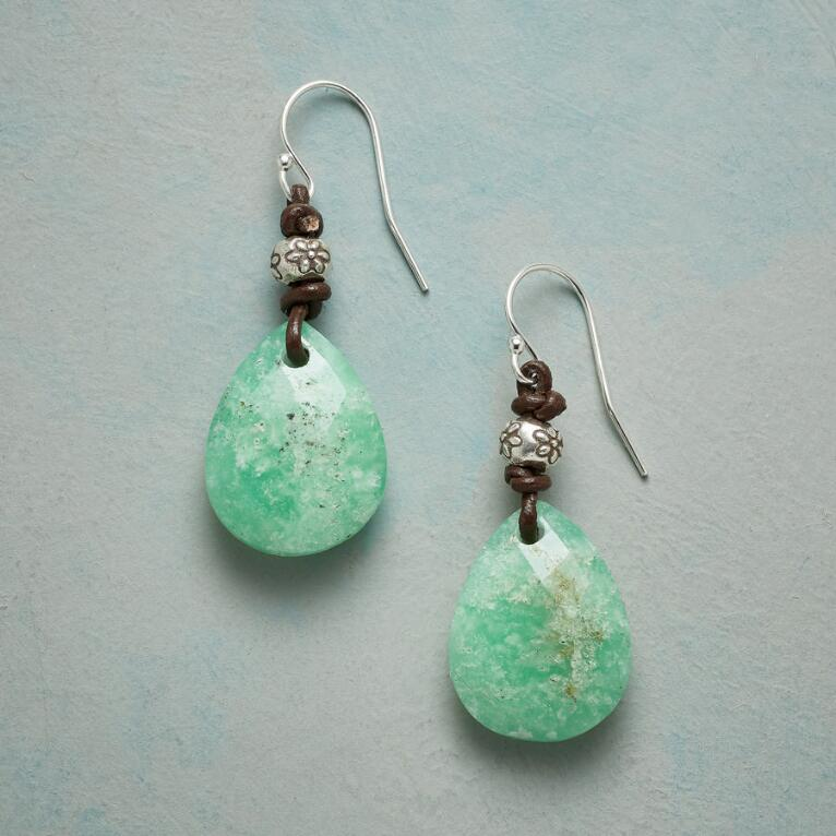 FLORA CHRYSOPRASE EARRINGS