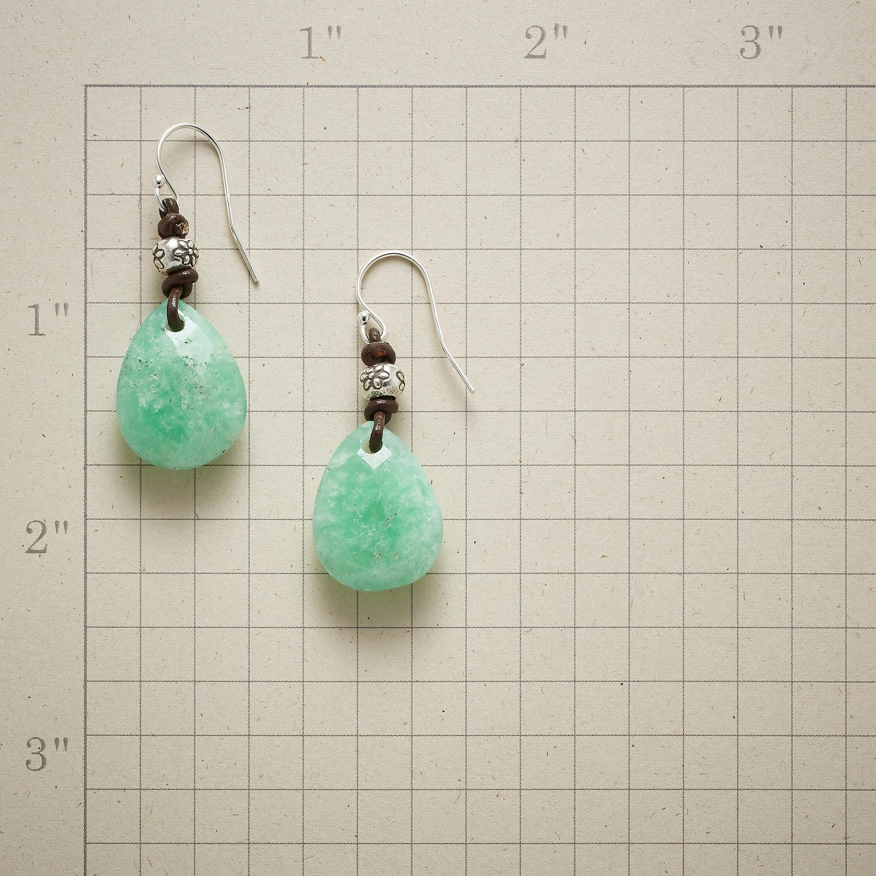 FLORA CHRYSOPRASE EARRINGS: View 2