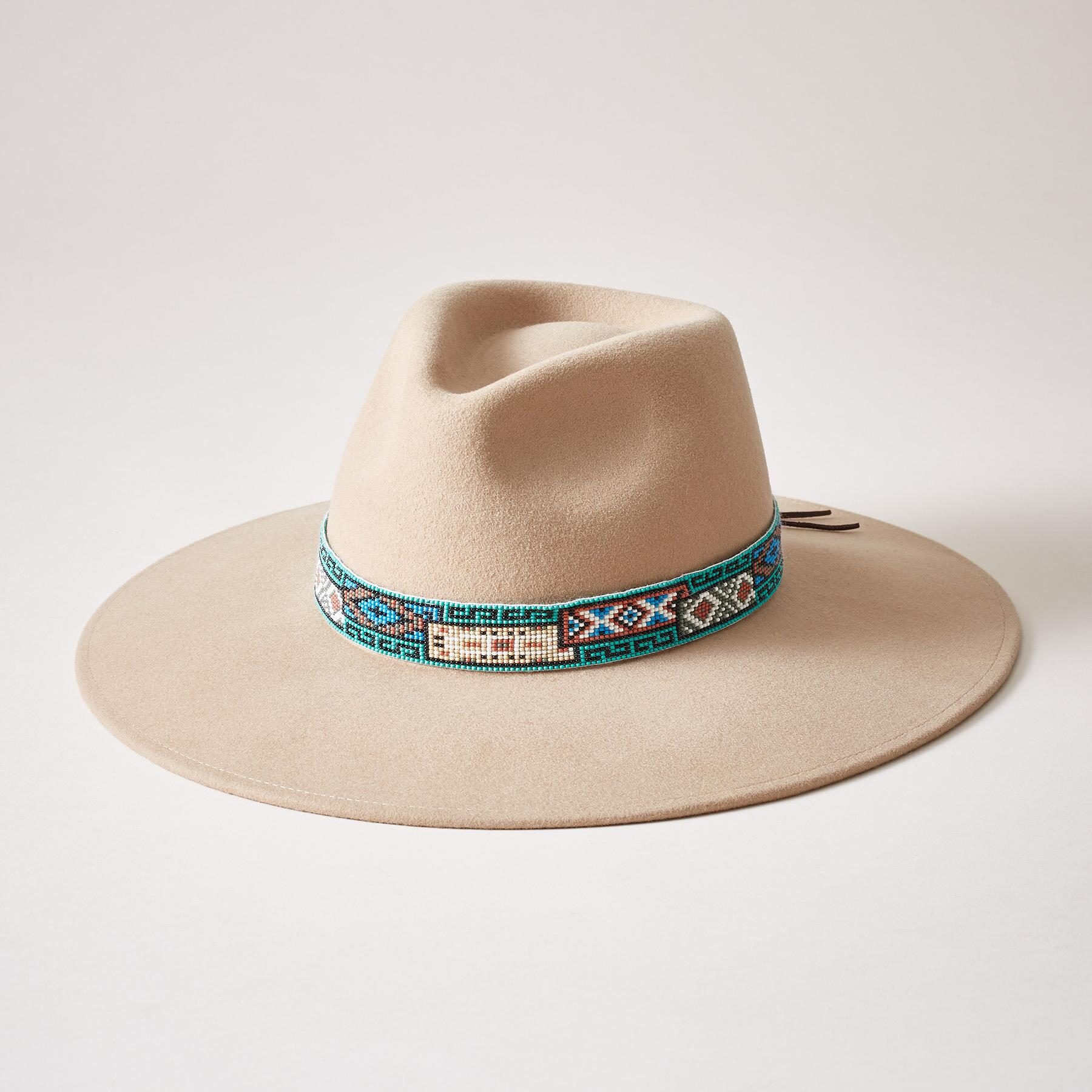 AZTEC BEADED HAT: View 1
