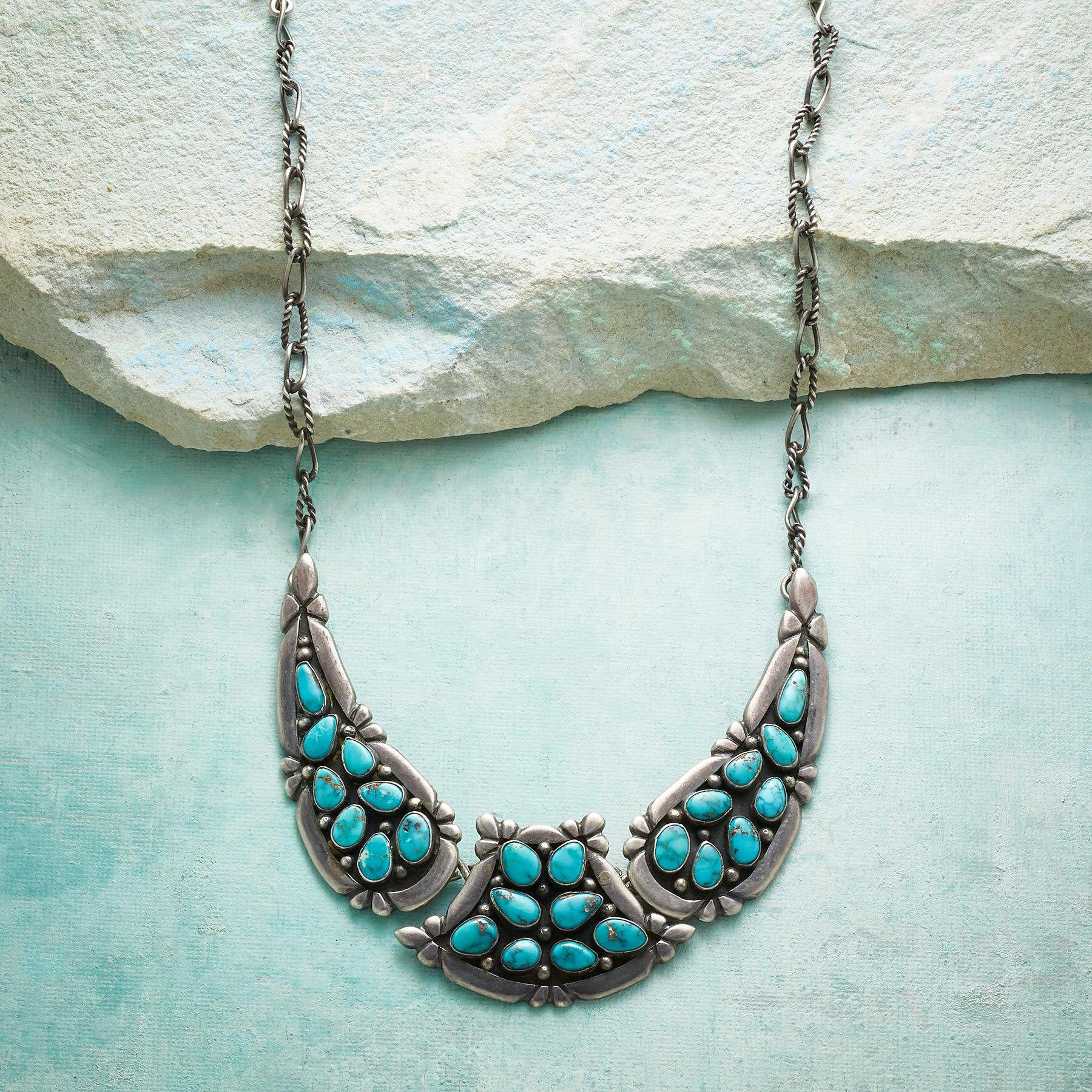 1950S CANDELARIA TURQUOISE NECKLACE: View 1