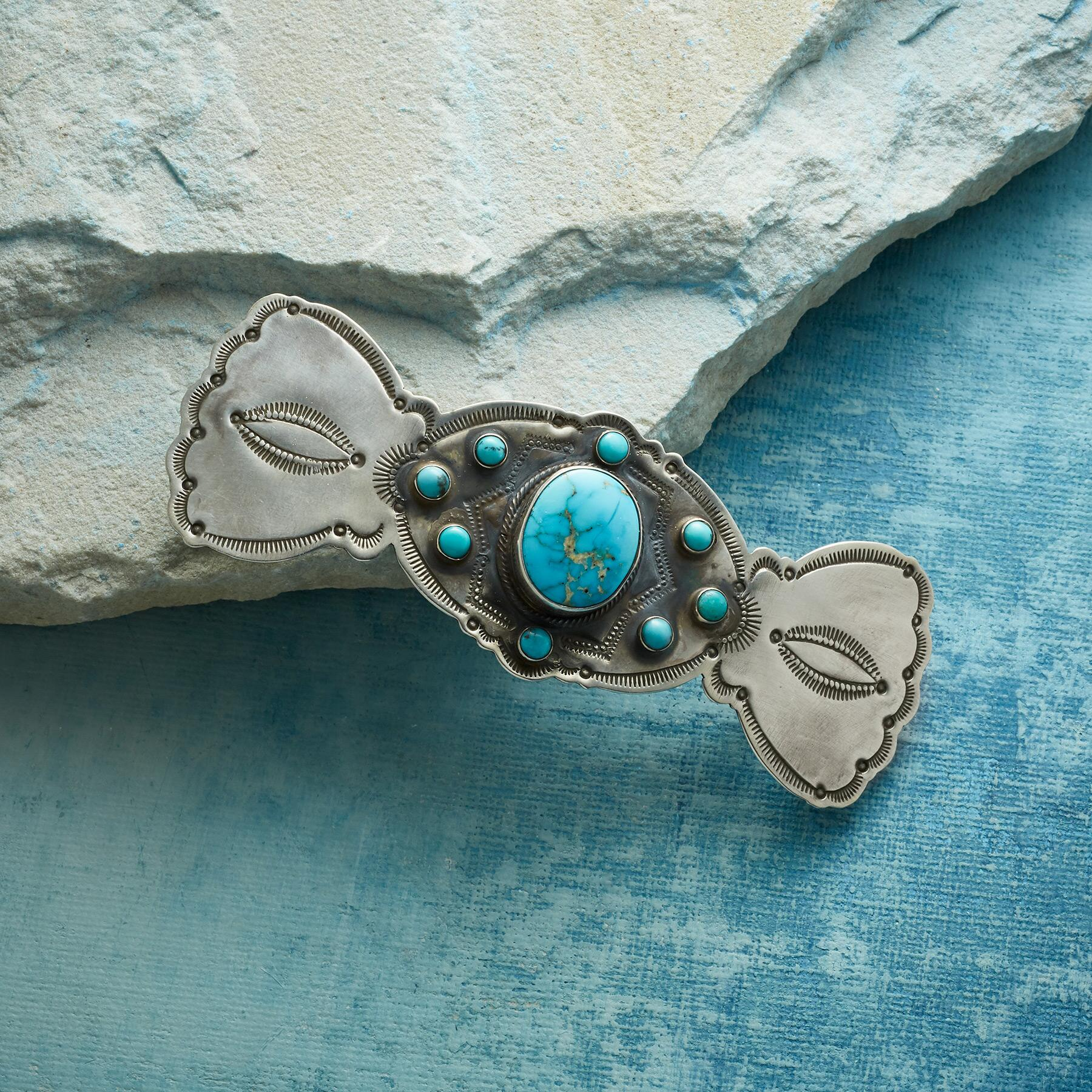 CARICO LAKE TURQUOISE BARRETTE: View 1