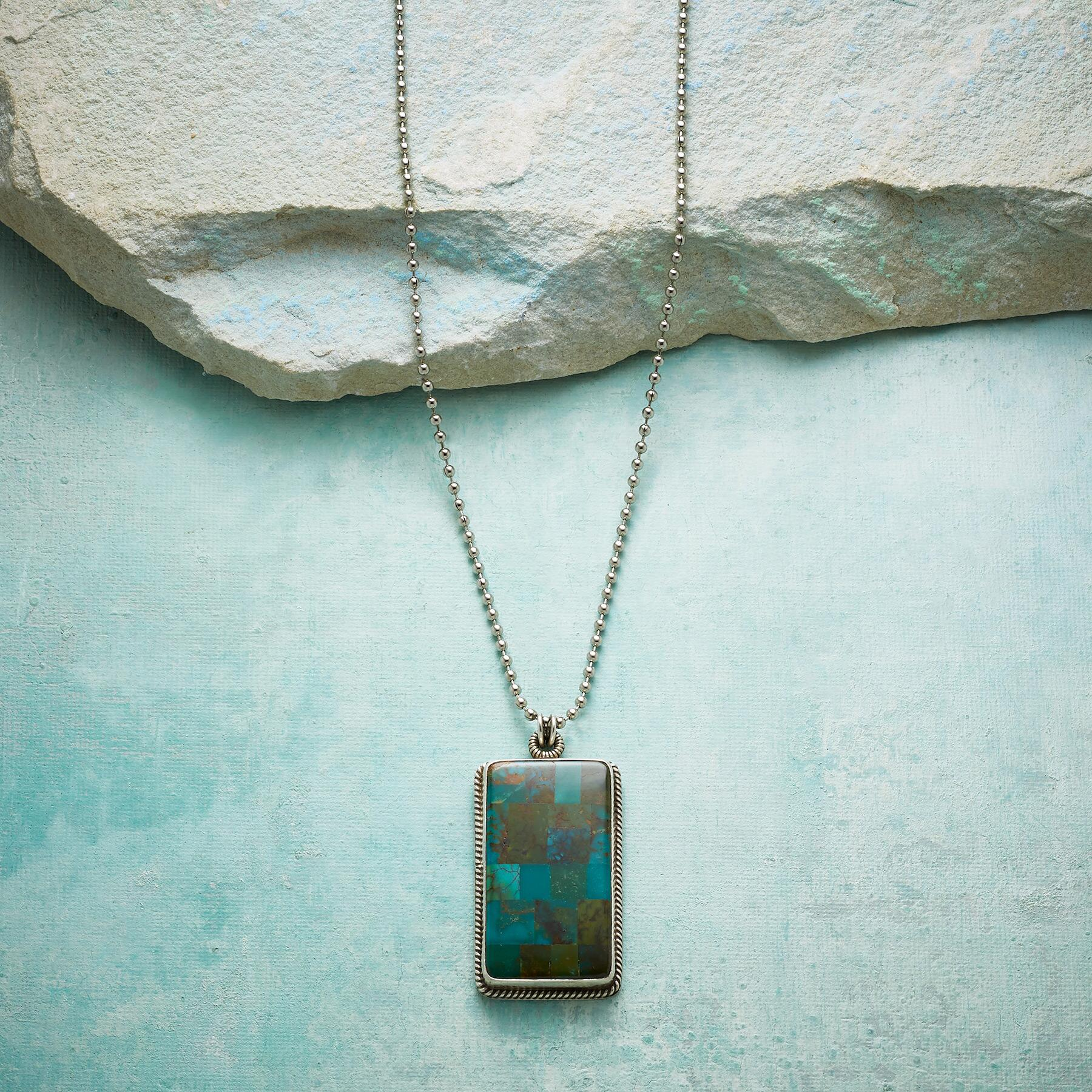 TURQUOISE MOSAIC NECKLACE: View 1