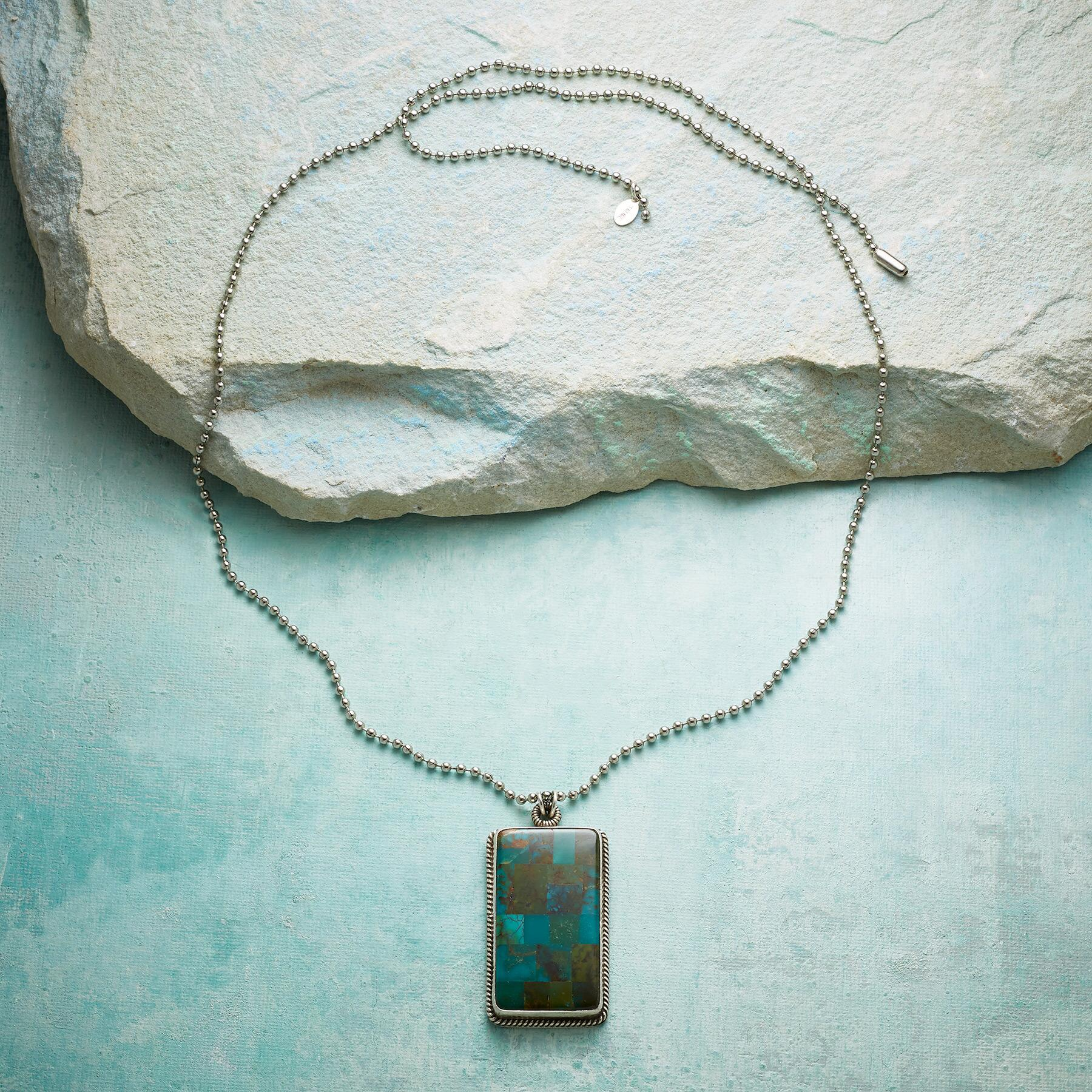 TURQUOISE MOSAIC NECKLACE: View 2