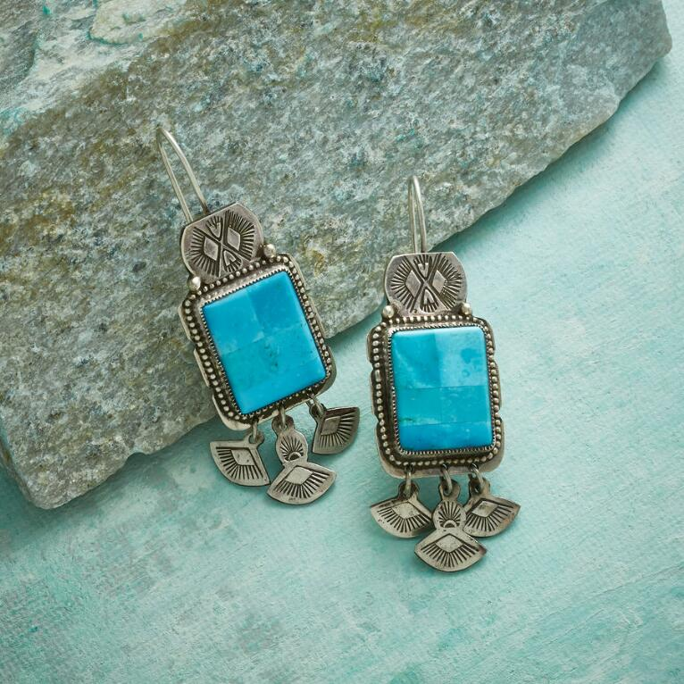 STUDY IN BLUE TURQUOISE EARRINGS
