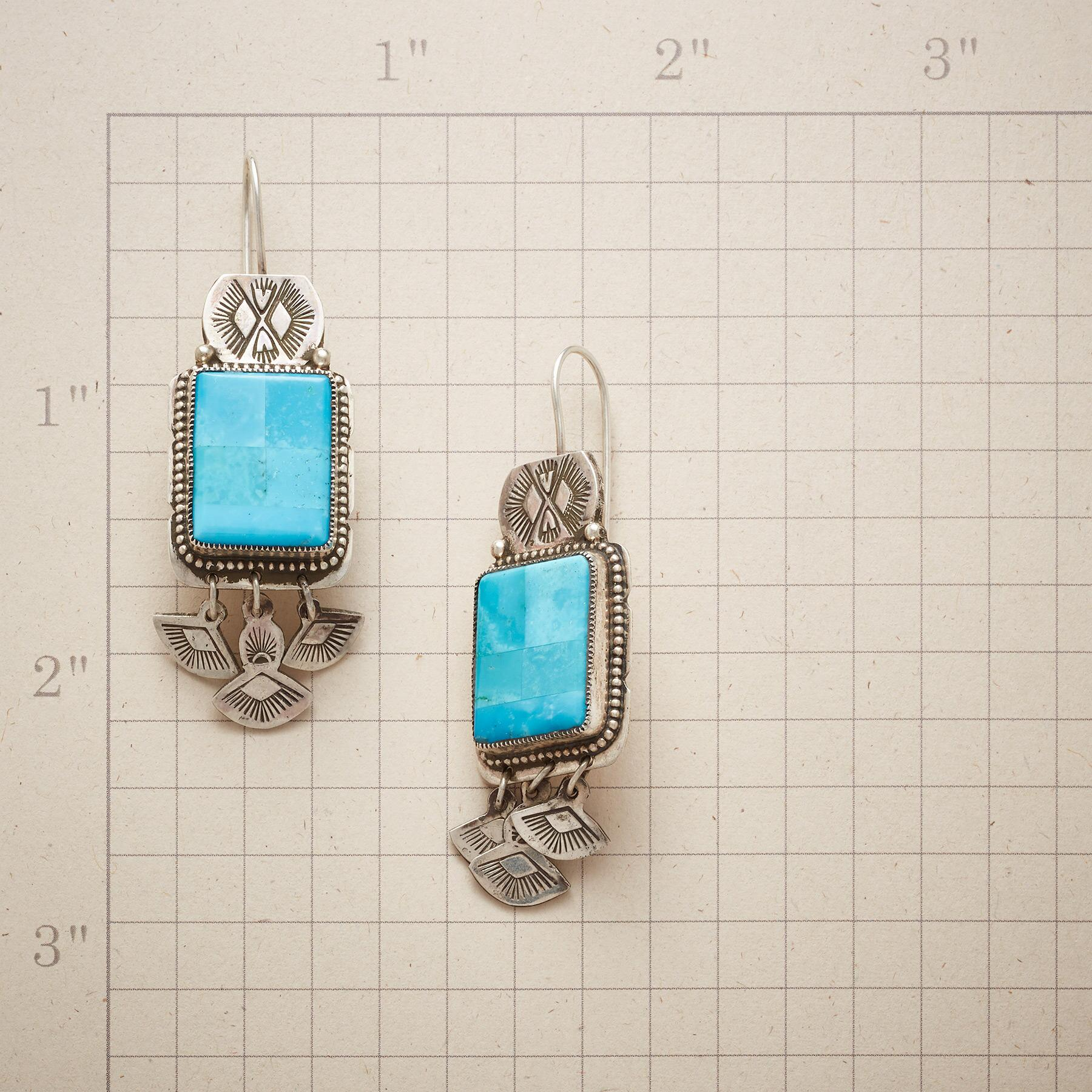 STUDY IN BLUE TURQUOISE EARRINGS: View 2
