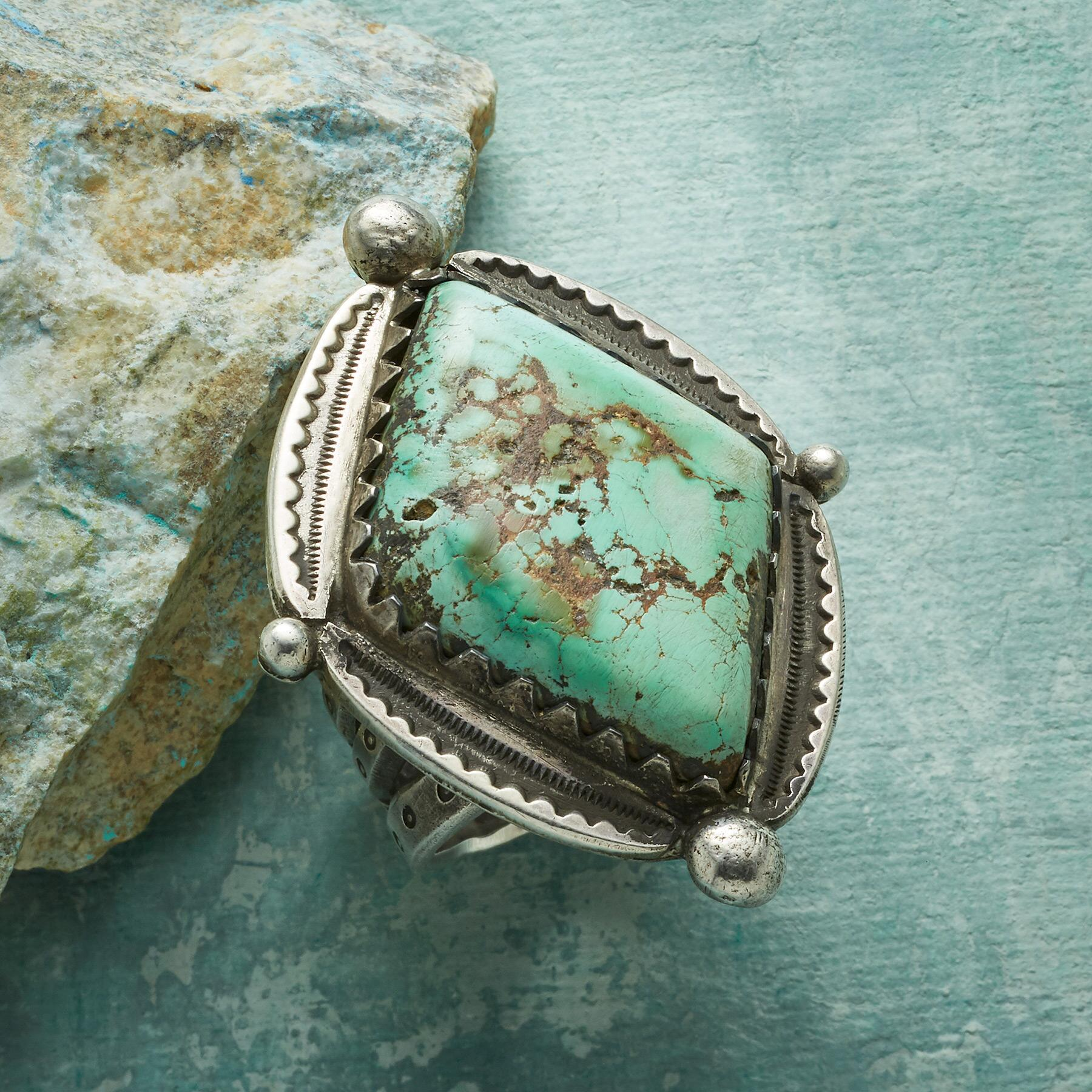 QUEEN OF DIAMONDS TURQUOISE RING: View 1