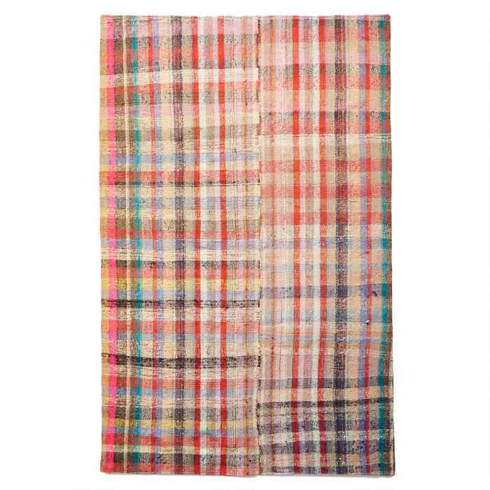 ALTAN ONE-OF-A-KIND MIXED MATERIAL RUG