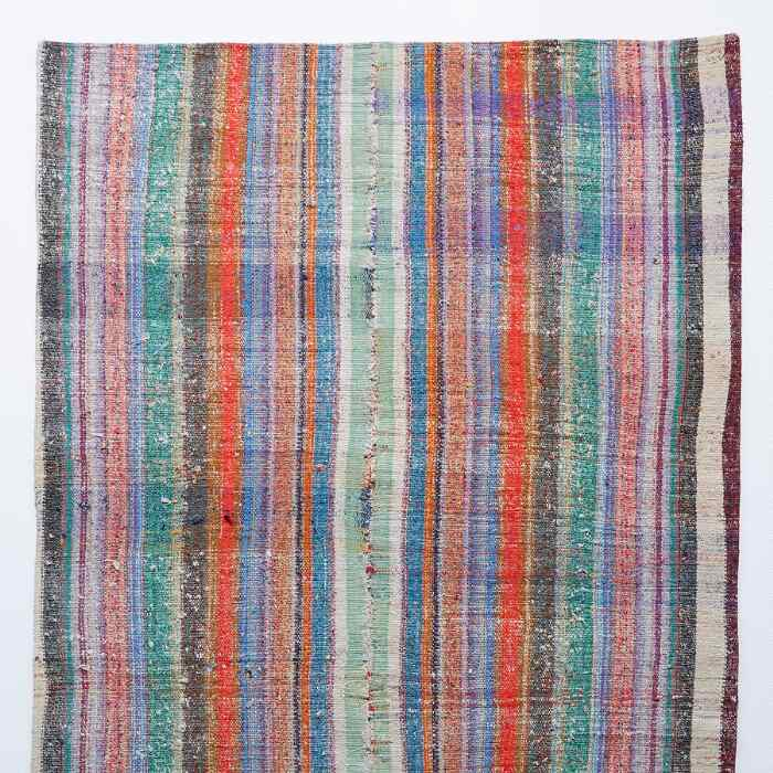 KERIM MIXED MATERIAL ONE-OF-A-KIND RUG