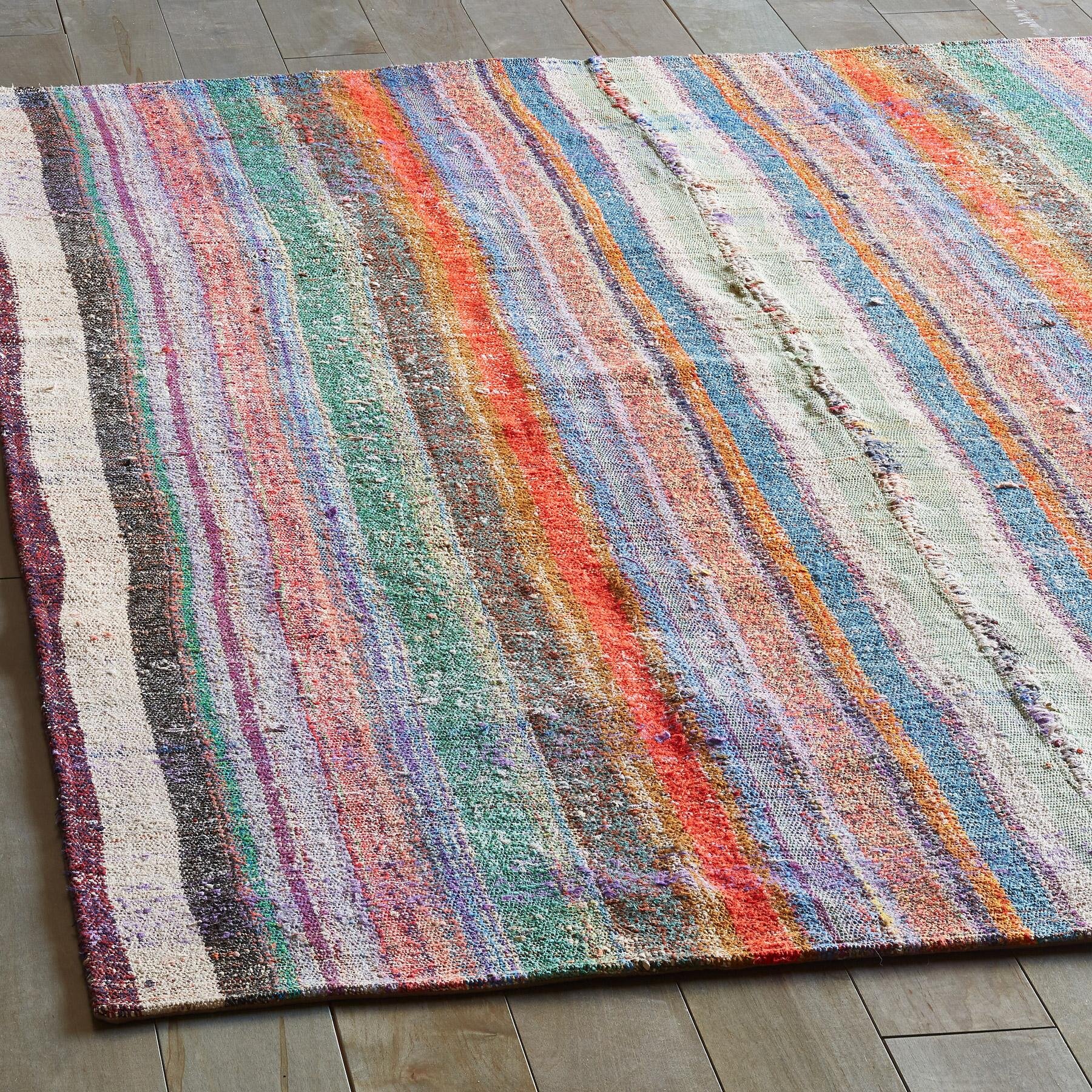 KERIM MIXED MATERIAL ONE-OF-A-KIND RUG: View 2