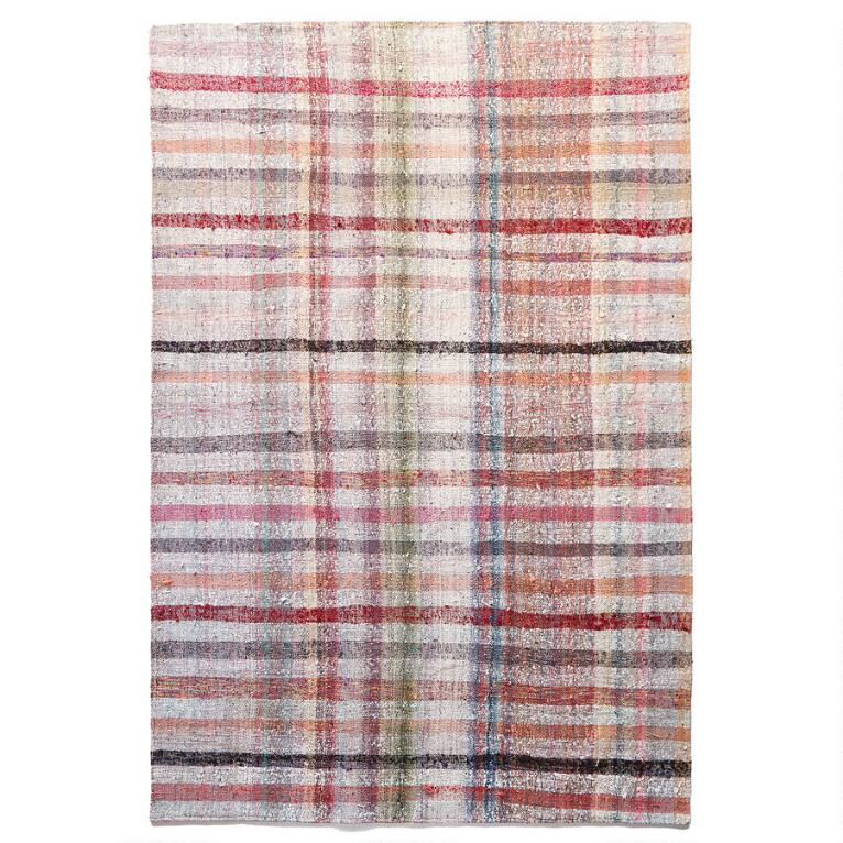 HAKAN ONE-OF-A-KIND MIXED MATERIAL RUG
