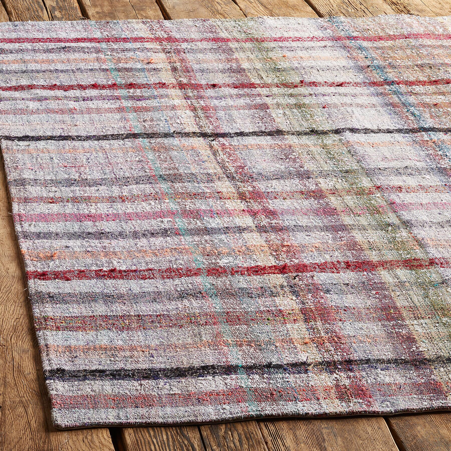 HAKAN ONE-OF-A-KIND MIXED MATERIAL RUG: View 2
