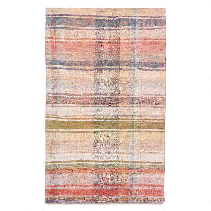 KORAY ONE-OF-A-KIND MIXED MATERIAL RUG