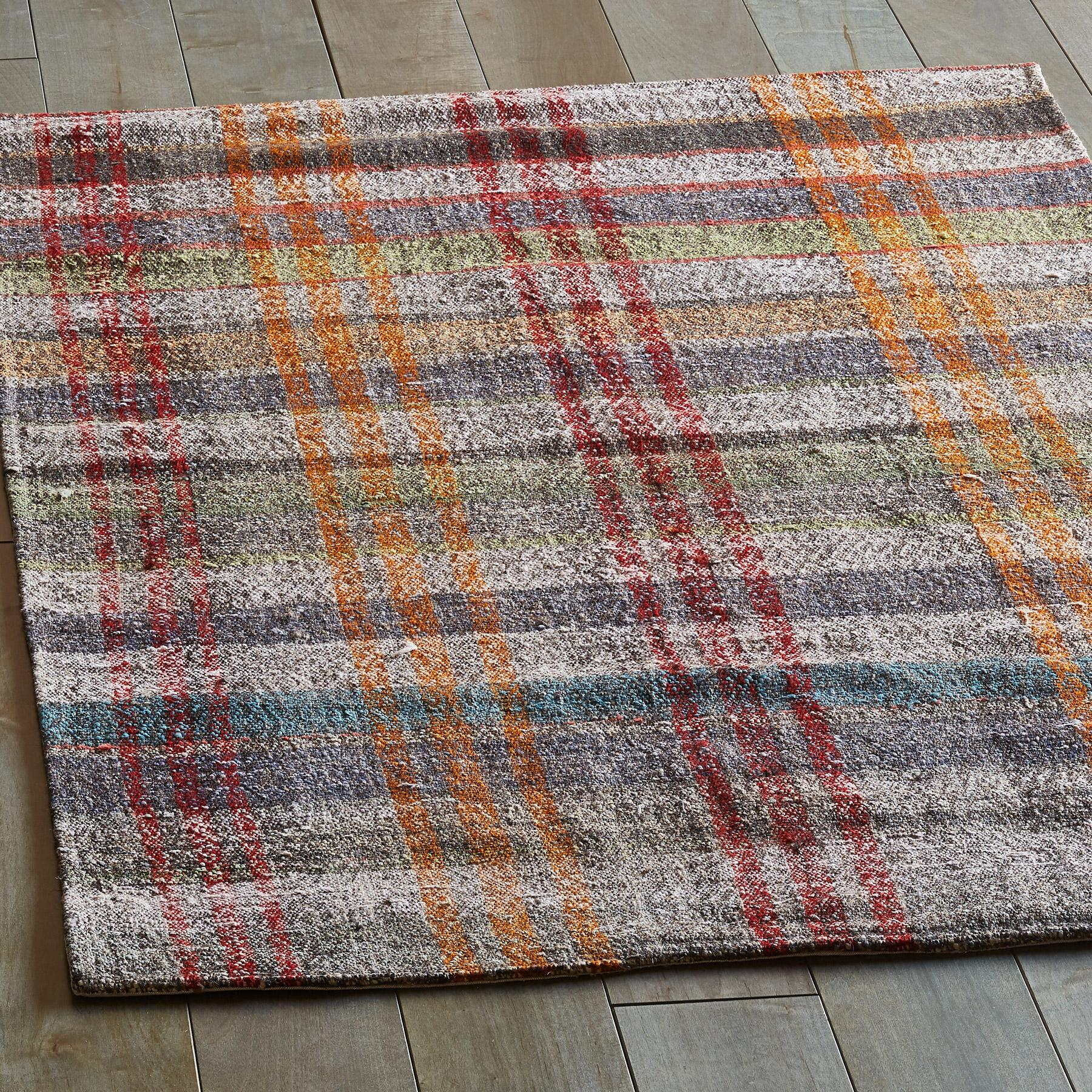 OZAN MIXED MATERIAL ONE-OF-A-KIND RUG: View 2