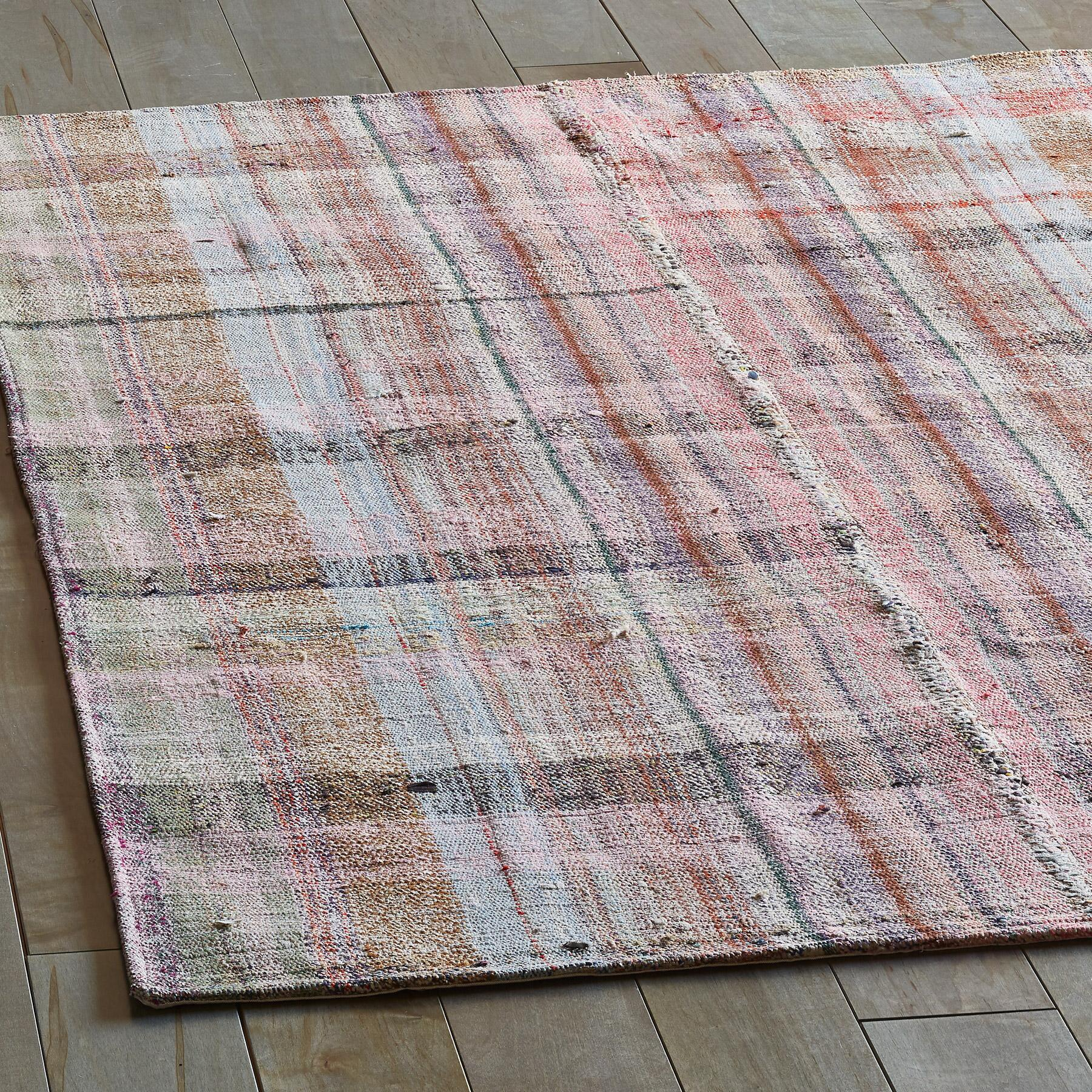 EMINE MIXED MATERIAL ONE-OF-A-KIND RUG: View 2