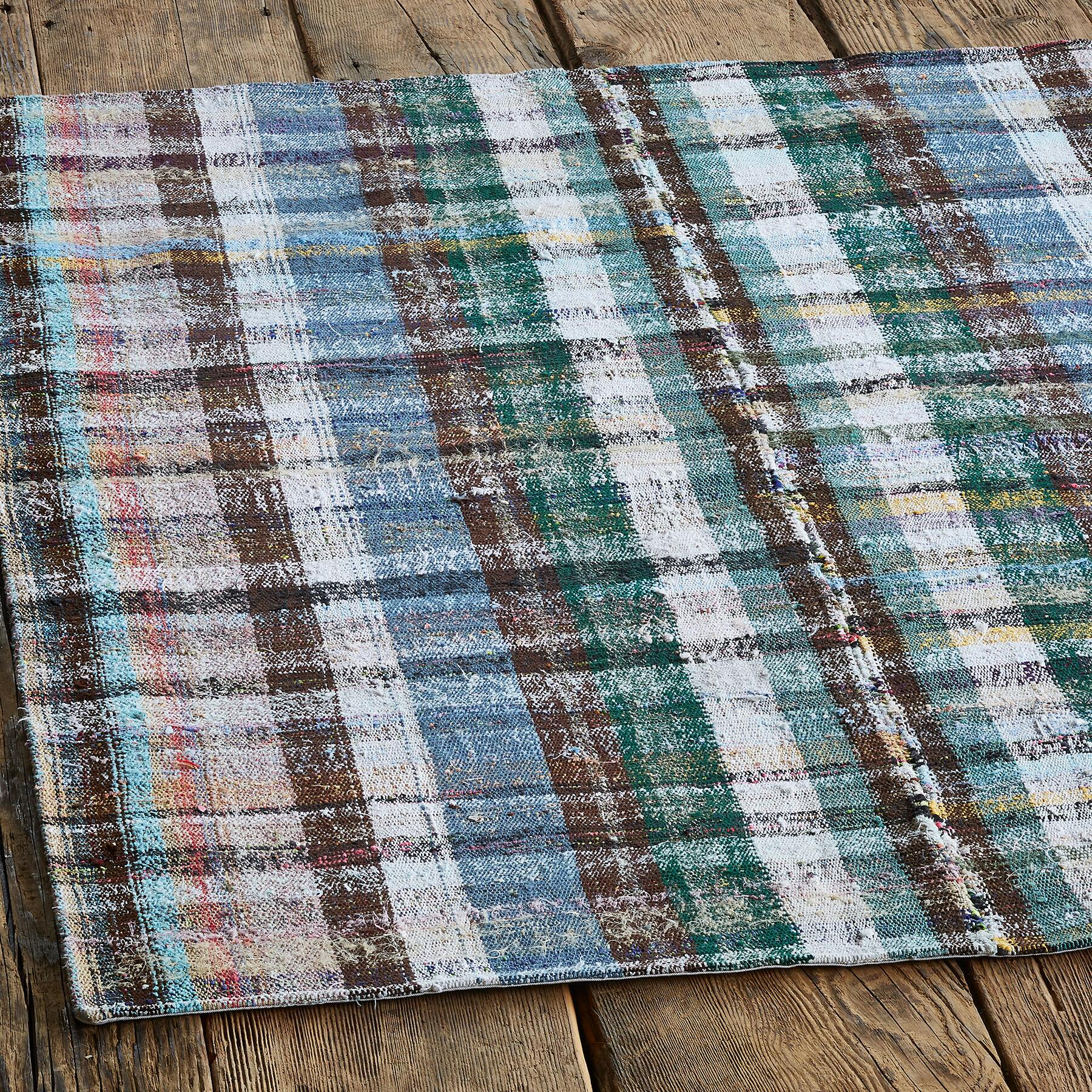 ZEKIYE ONE-OF-A-KIND MIXED MATERIAL RUG: View 2