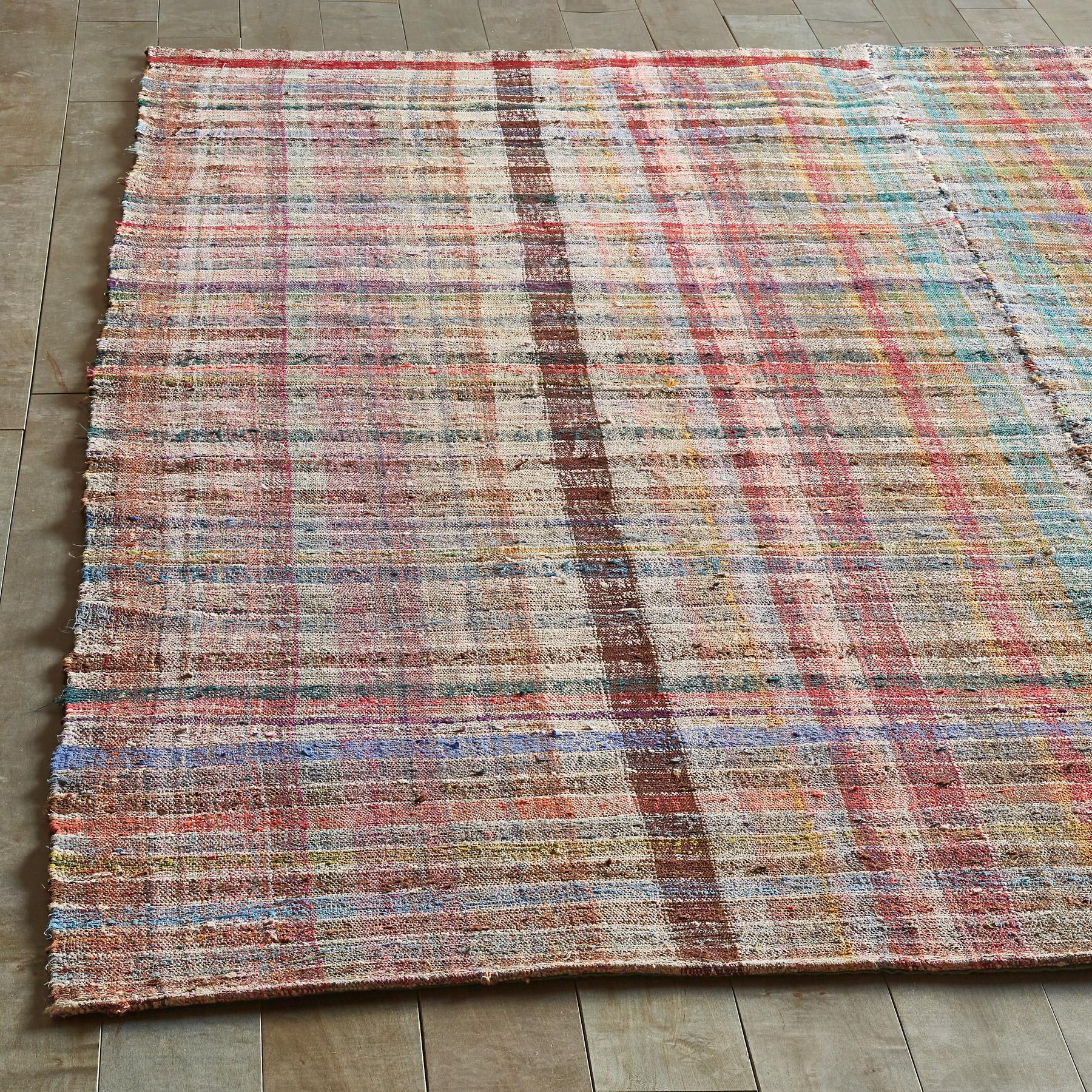 EMEL MIXED MATERIAL ONE-OF-A-KIND RUG: View 2