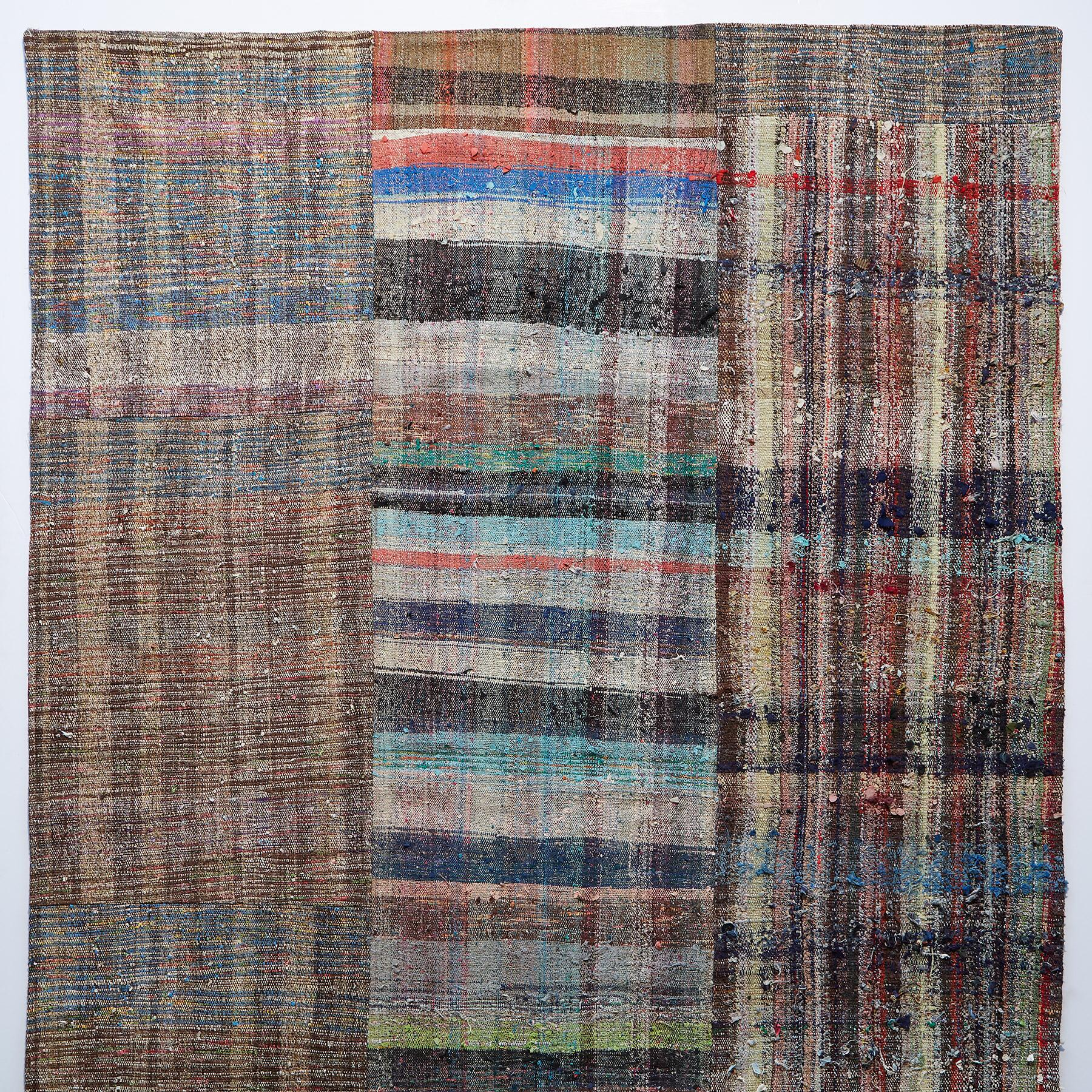 MELIKE MIXED MATERIAL ONE-OF-A-KIND RUG: View 1