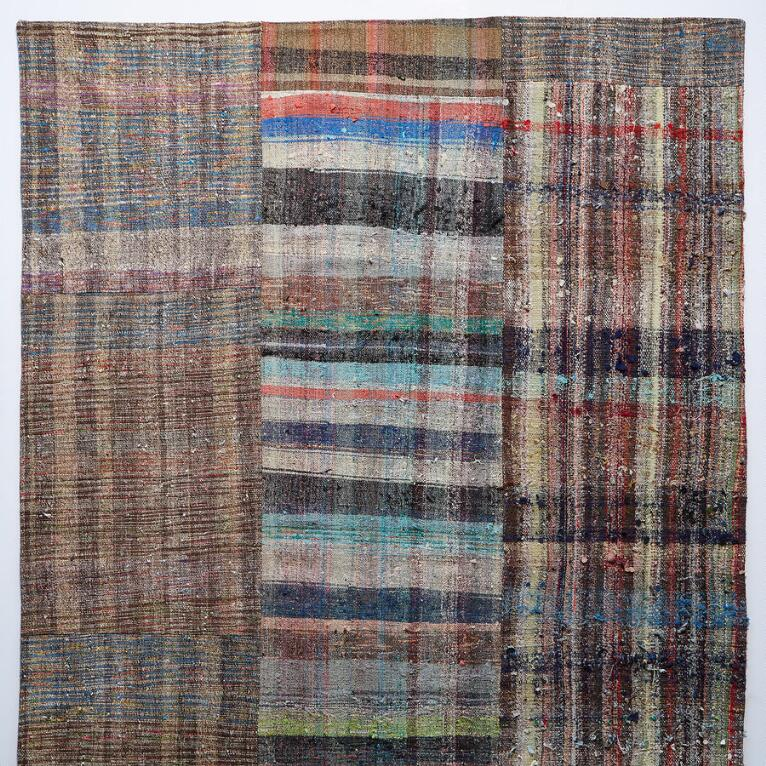 MELIKE MIXED MATERIAL ONE-OF-A-KIND RUG