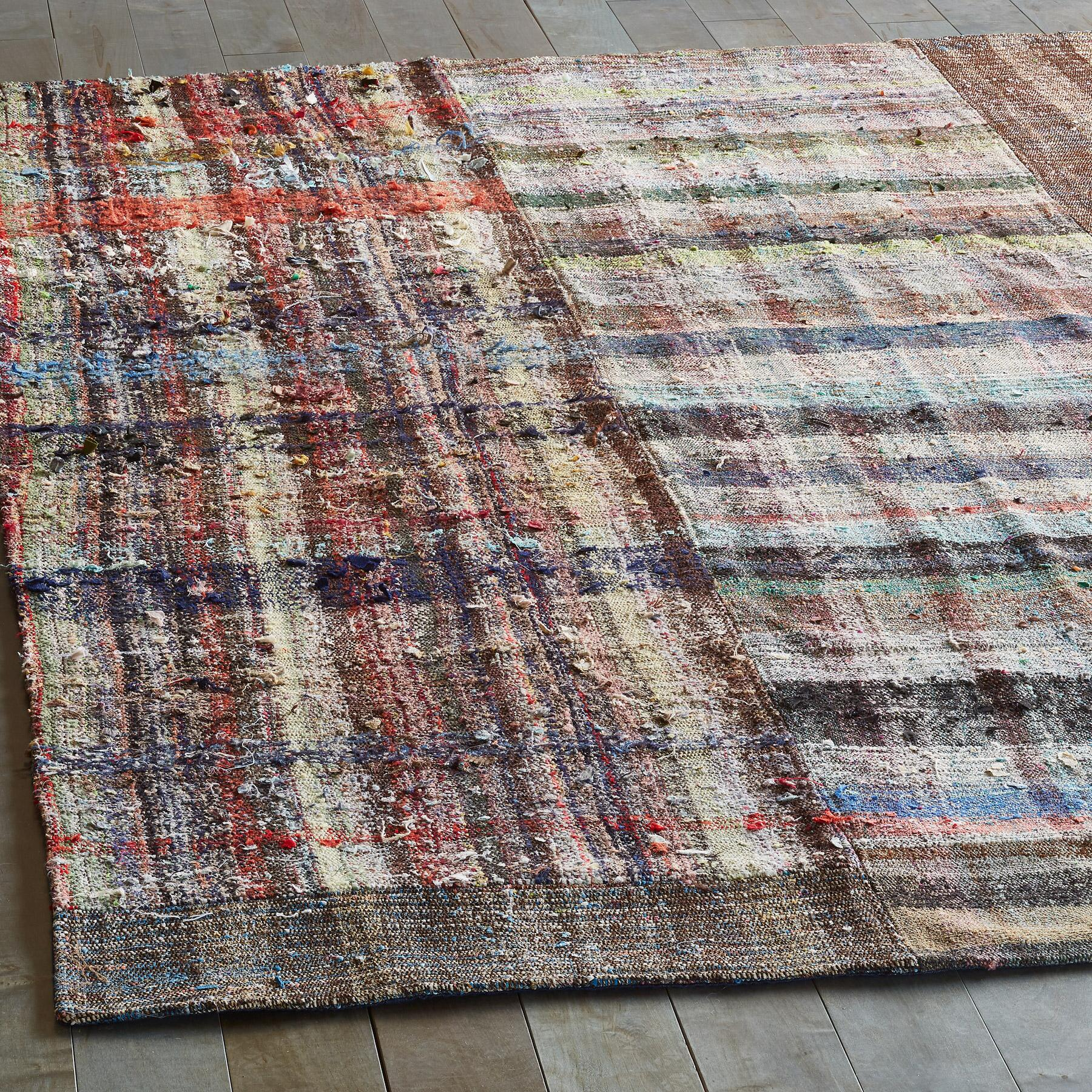 MELIKE MIXED MATERIAL ONE-OF-A-KIND RUG: View 2
