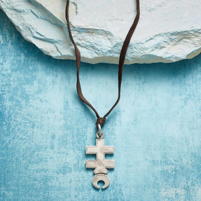 CRESCENT CROSS NECKLACE