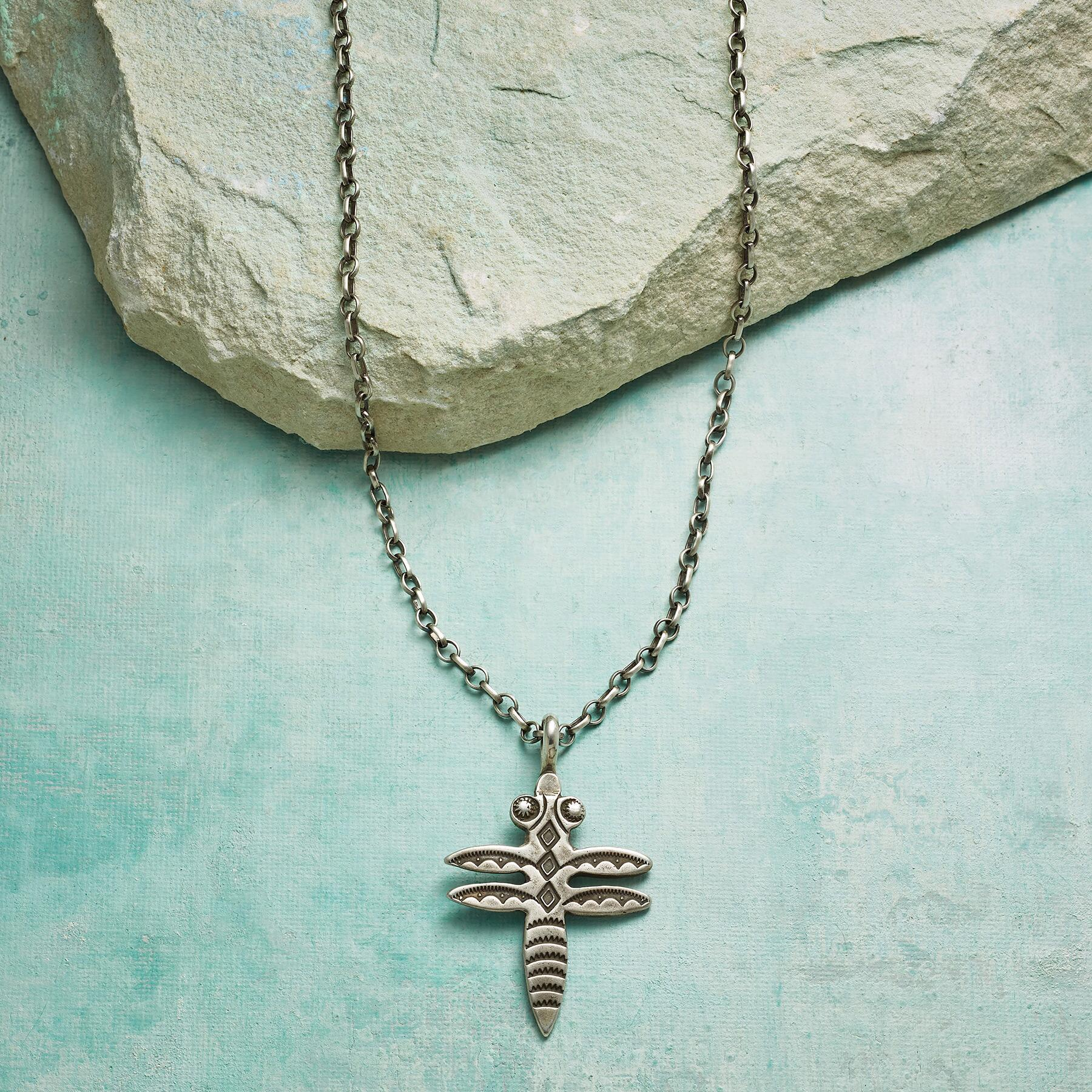 STERLING DRAGONFLY NECKLACE: View 1