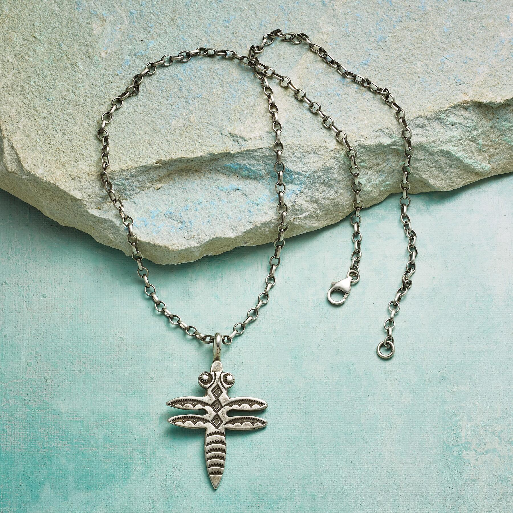 STERLING DRAGONFLY NECKLACE: View 2