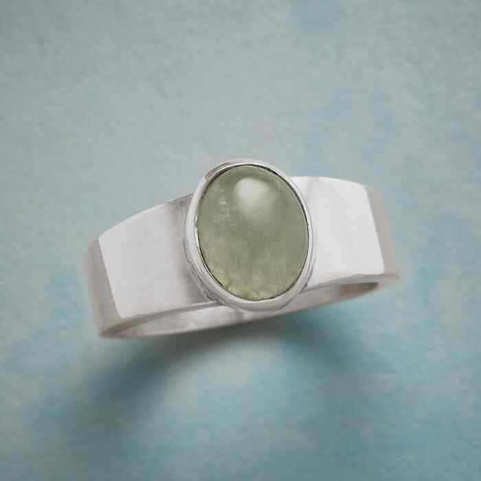ON THE SQUARE JADE RING