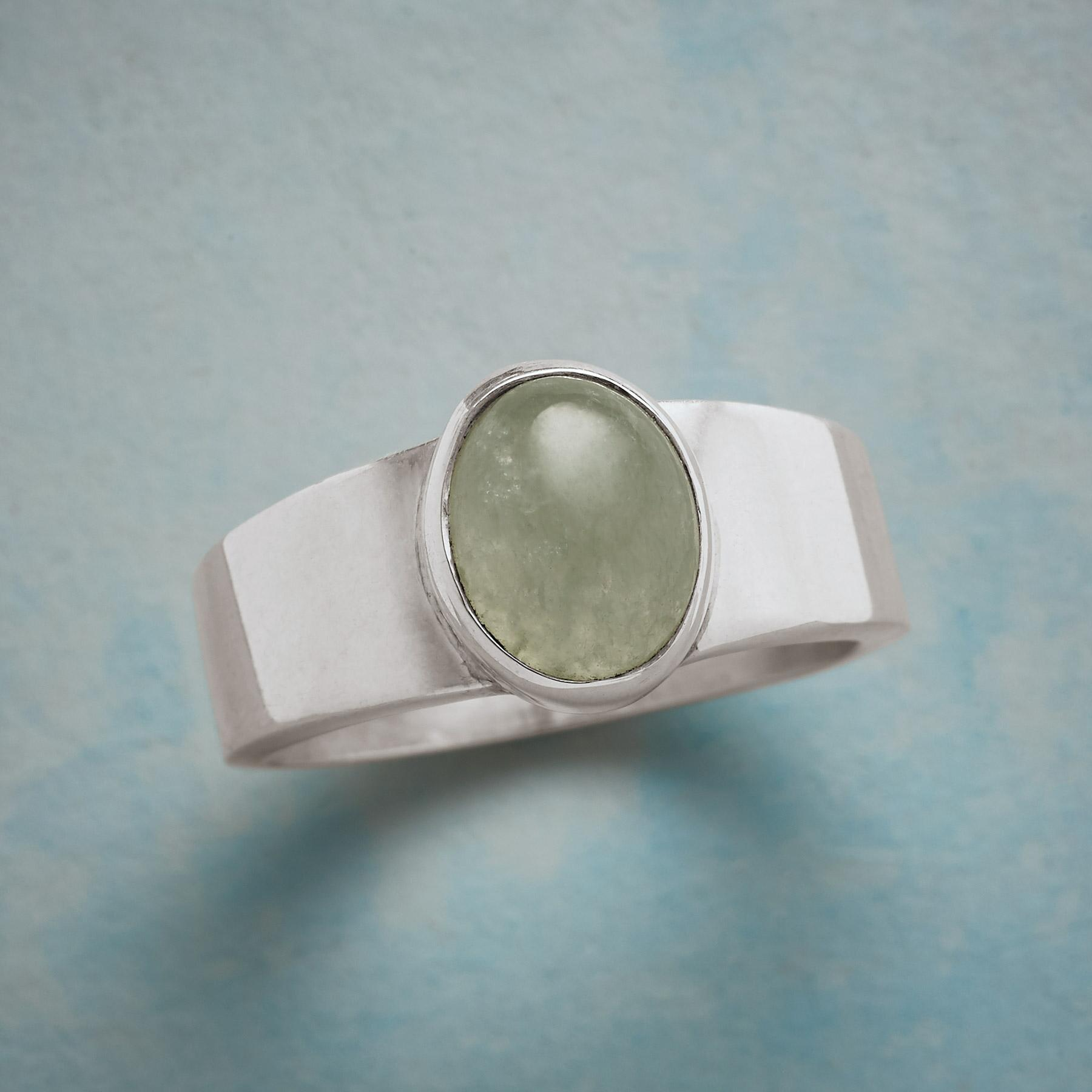 ON THE SQUARE JADE RING: View 1