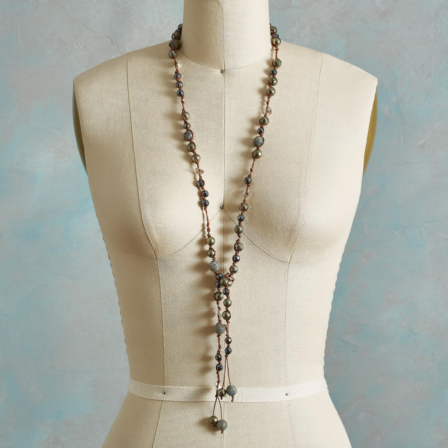 PYRITE NECKLACE: View 3
