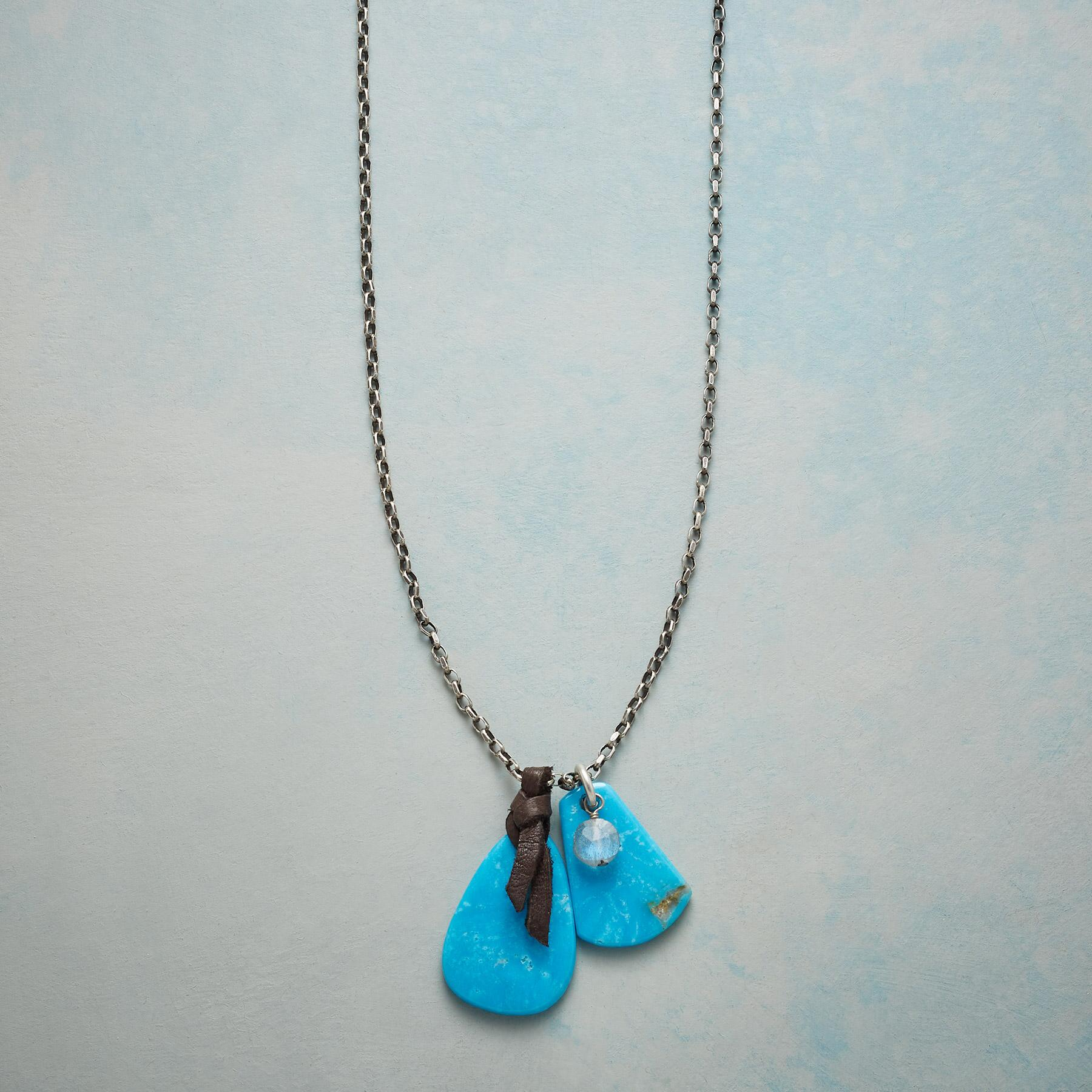TURQUOISE TABS NECKLACE: View 1