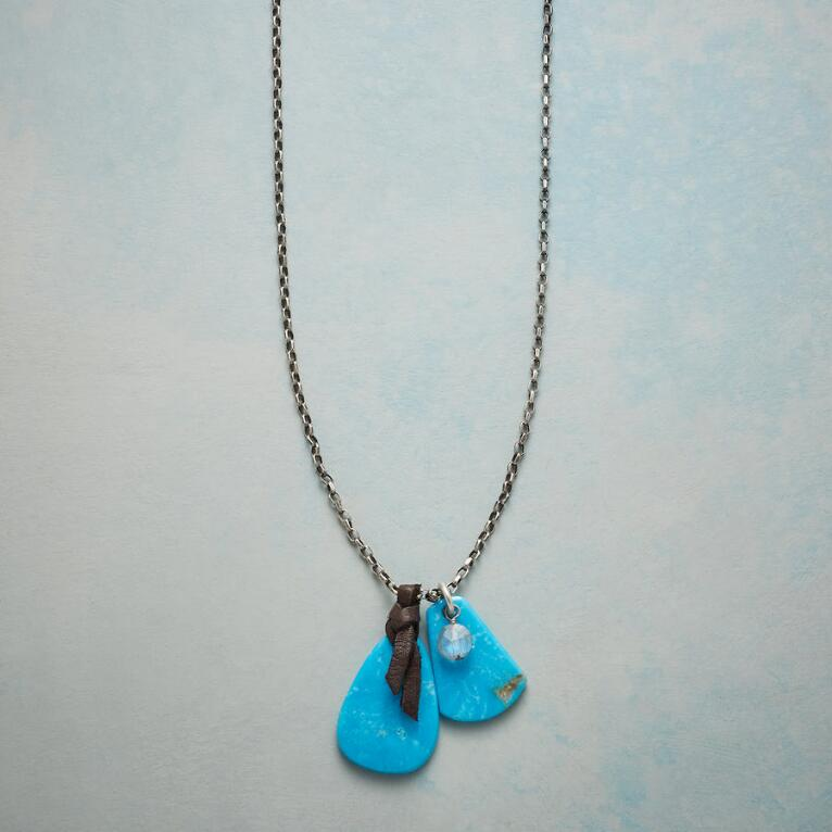 TURQUOISE TABS NECKLACE