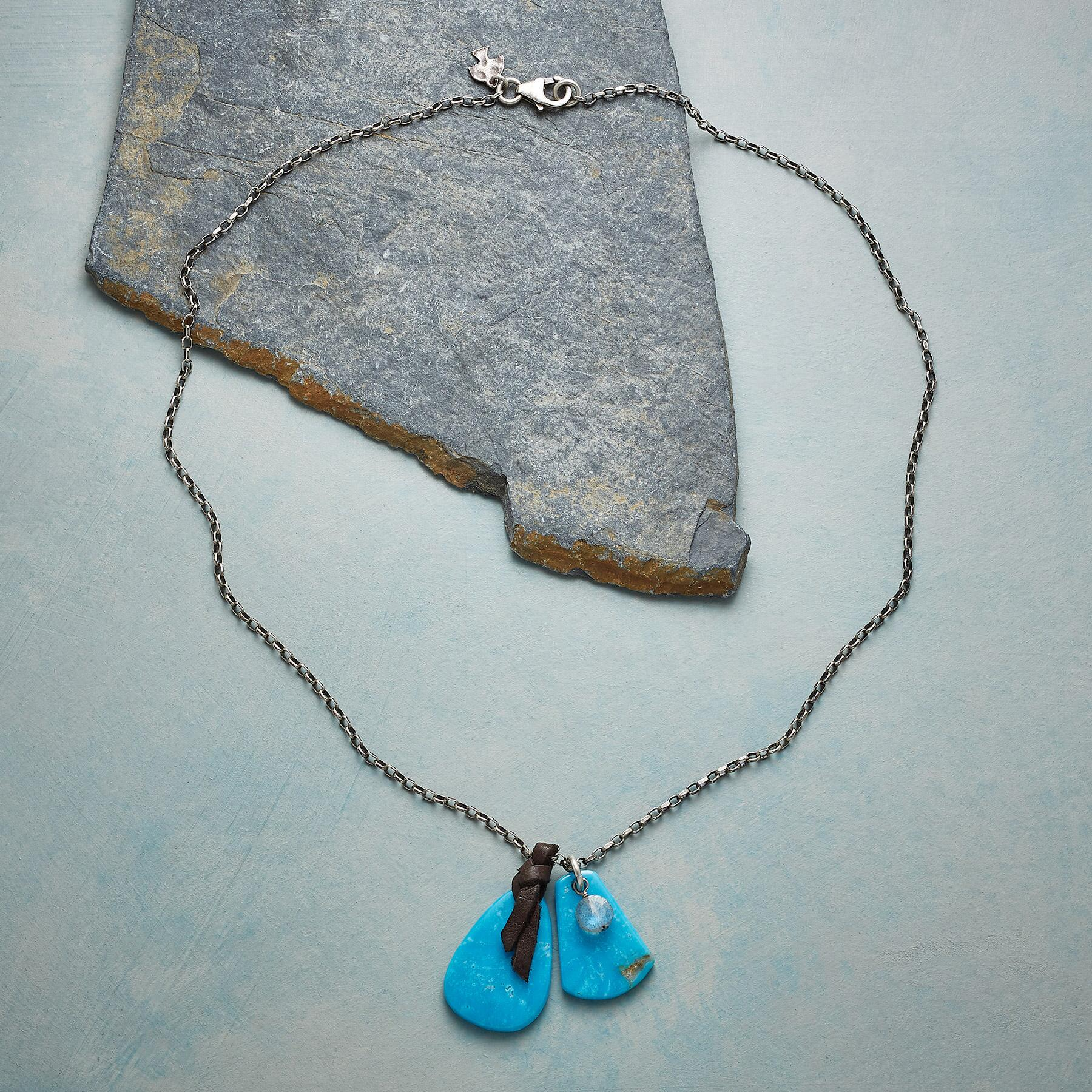 TURQUOISE TABS NECKLACE: View 2