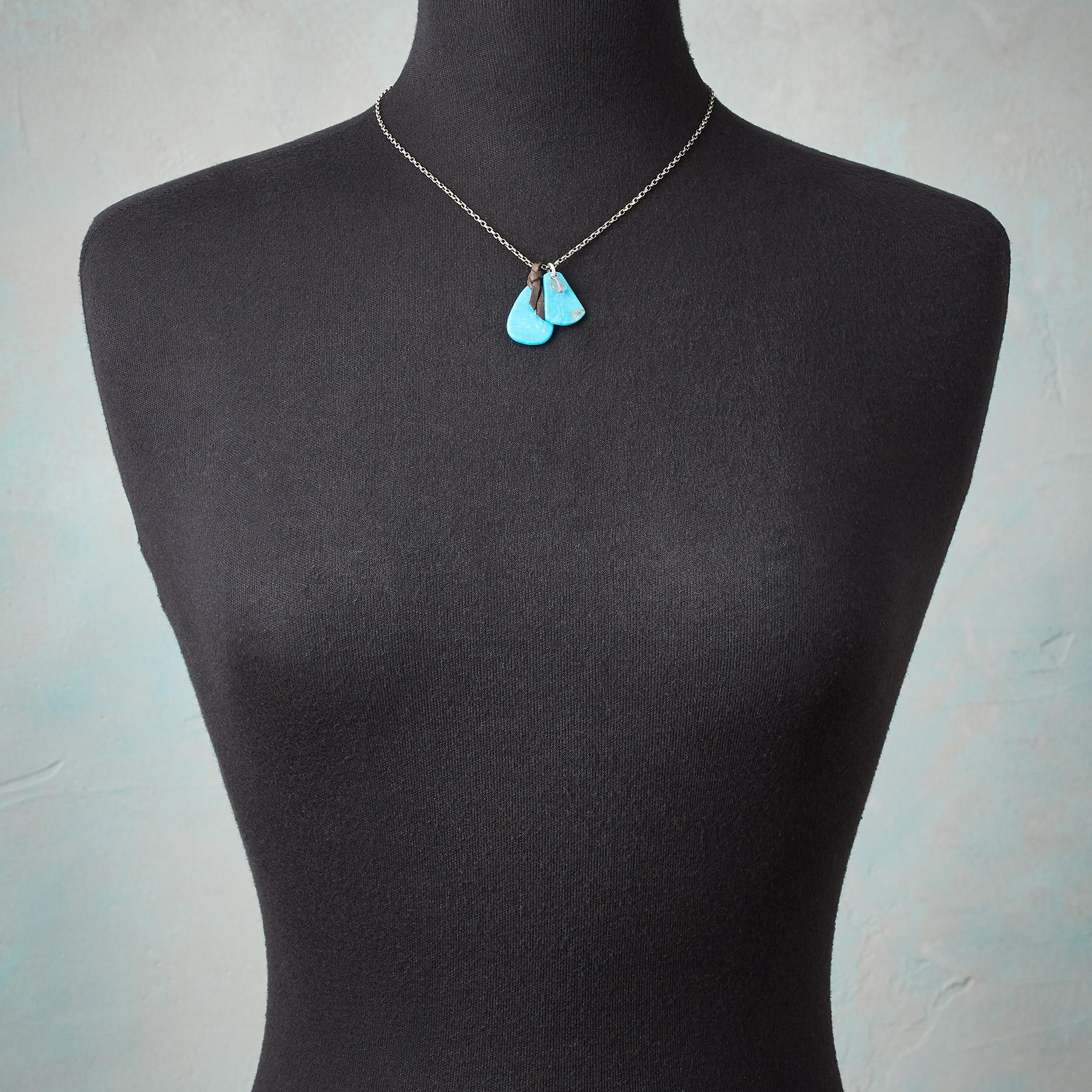 TURQUOISE TABS NECKLACE: View 3