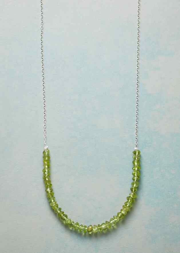 PERIDOT SEMICIRCLE NECKLACE
