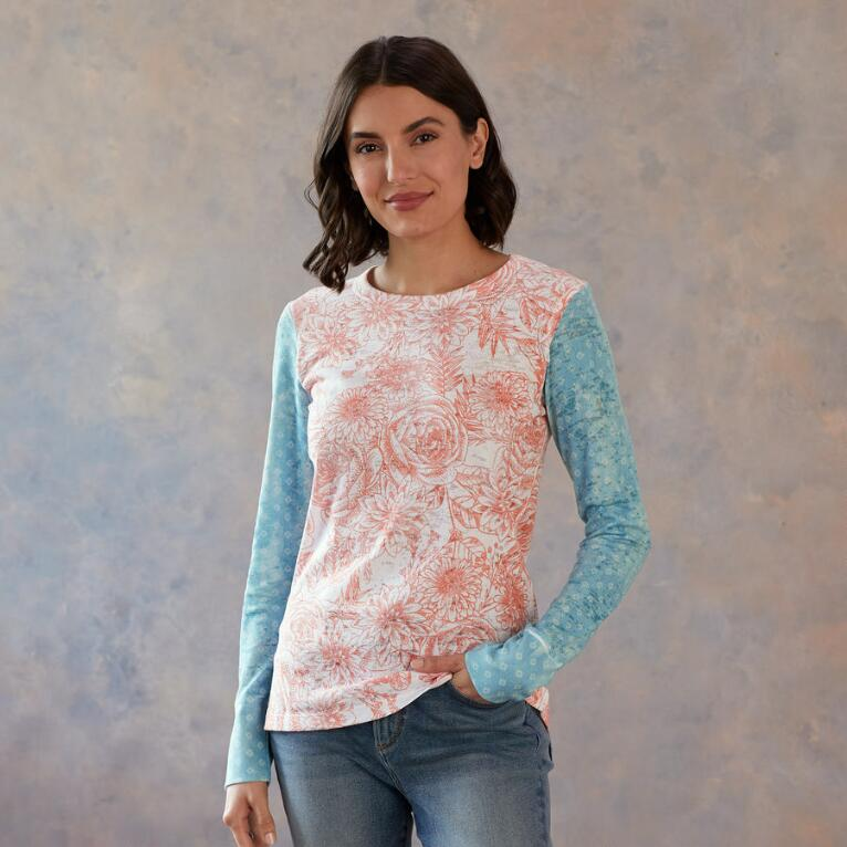 WHISPERED BLOSSOMS TOP