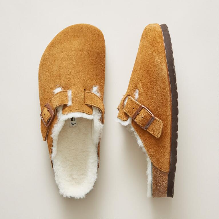 MEN'S BOSTON SHEARLING MULES
