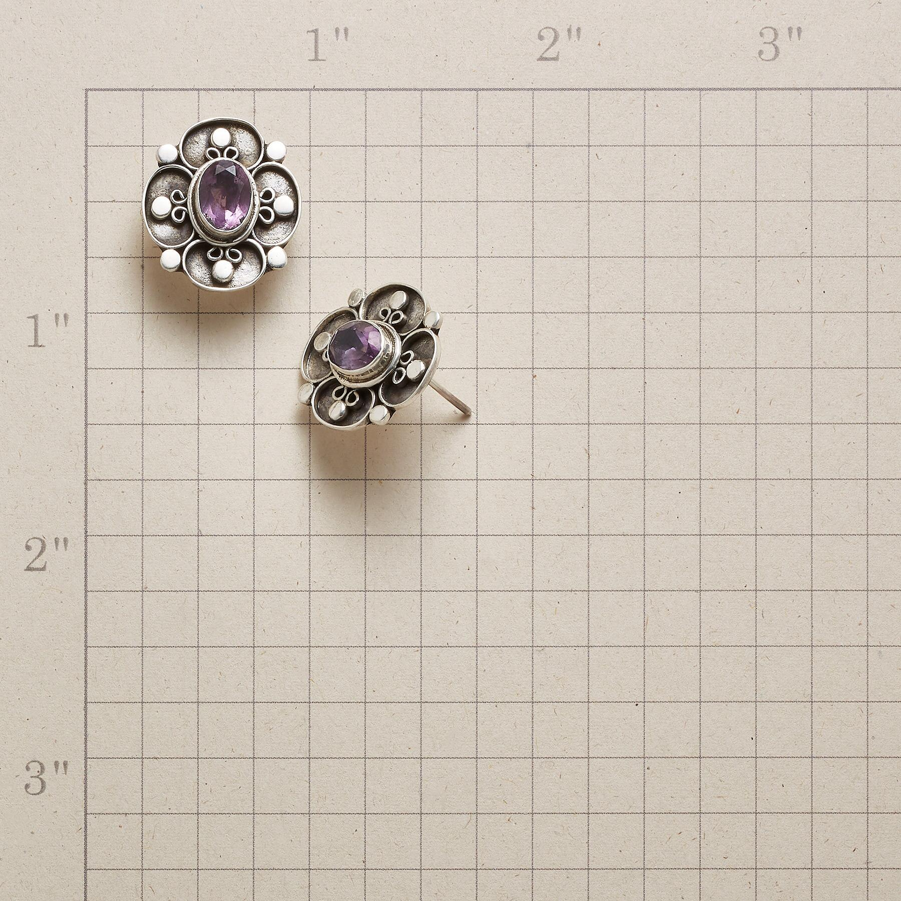 AMETHYST FLOWER EARRINGS: View 2