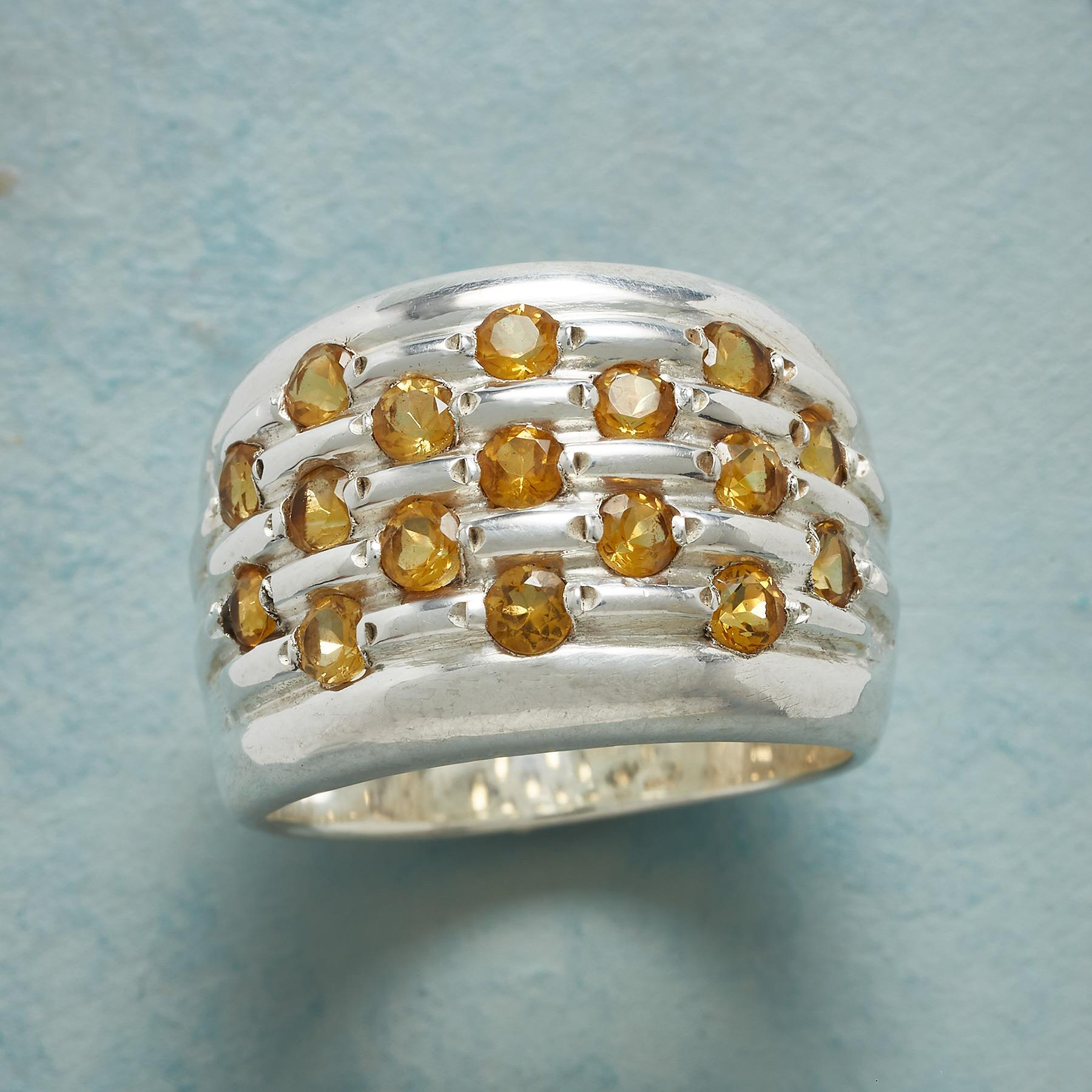 MANY CITRINES RING: View 1