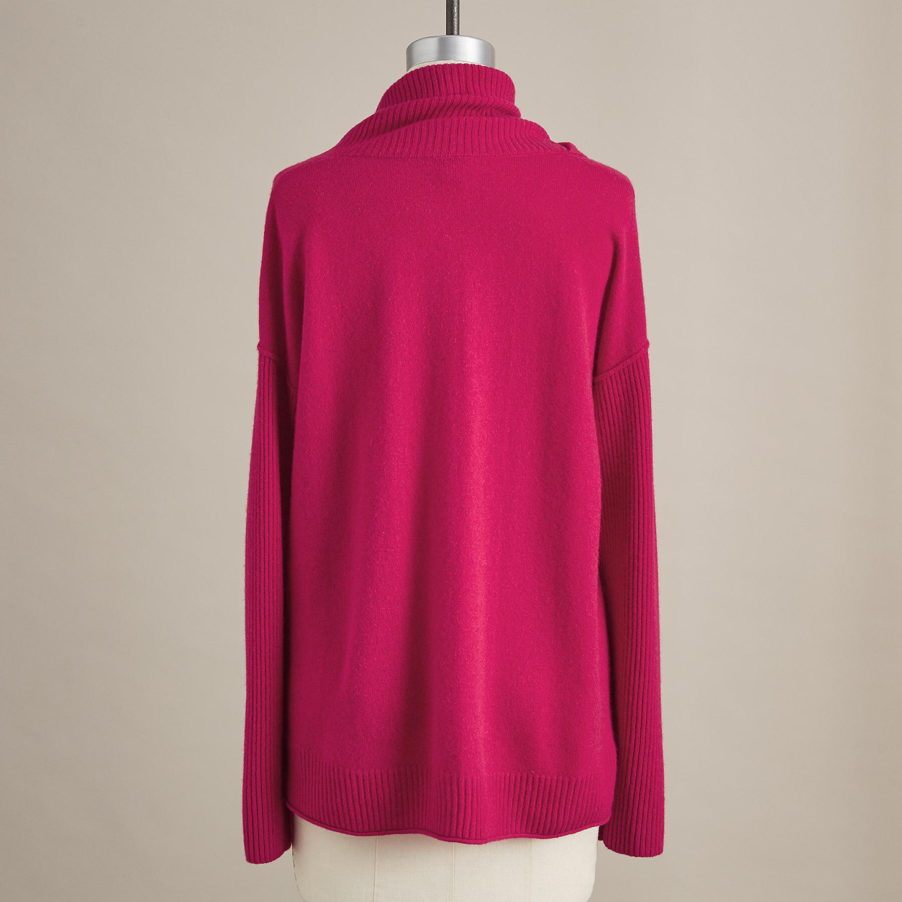ENVELOPE NECK CASHMERE SWEATER - PETITES: View 3