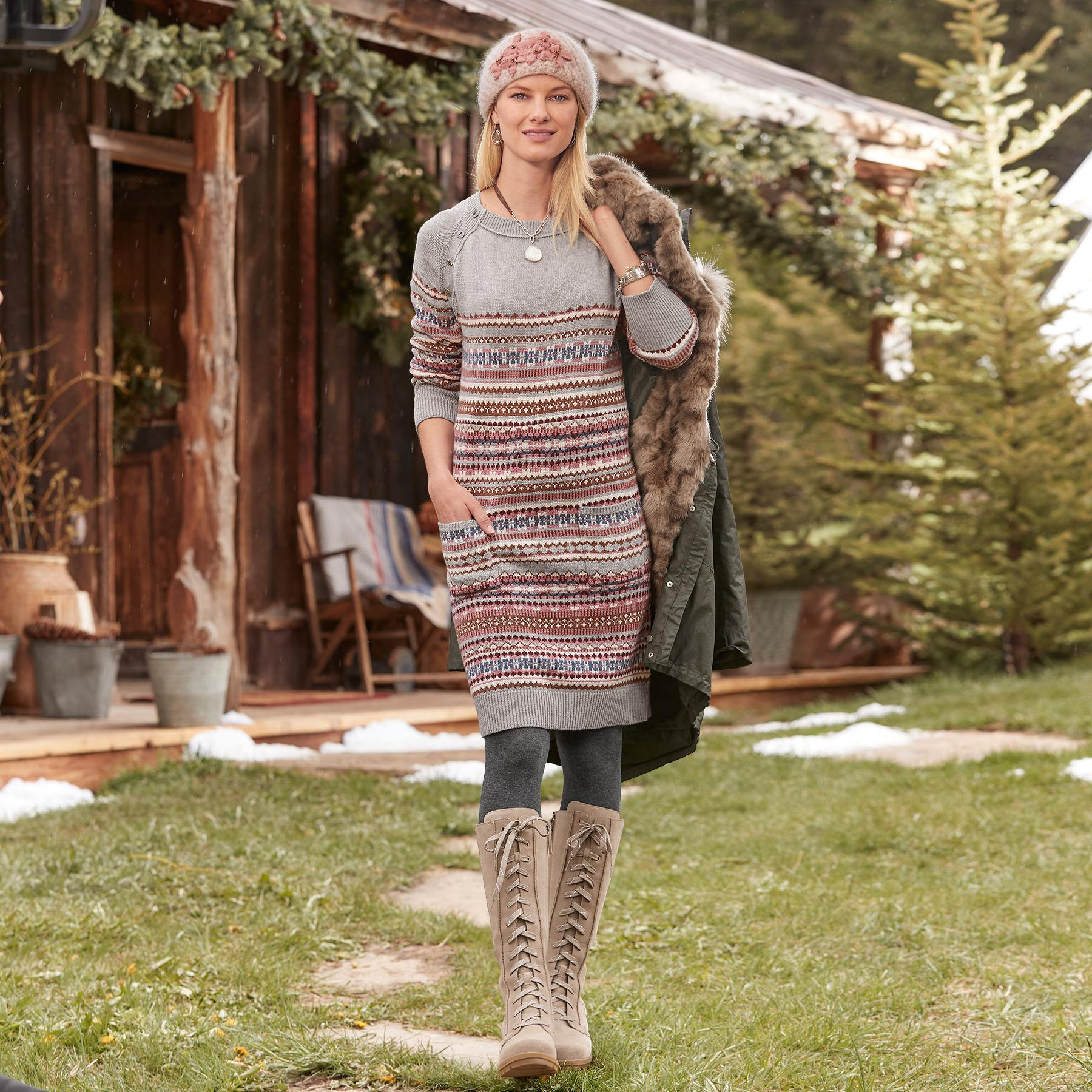 ELISE LIGHTHOUSE SWEATER DRESS: View 1