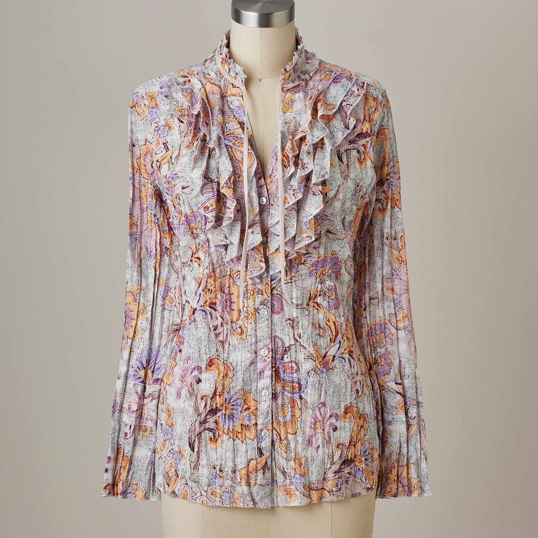 RUFFLE VINTAGE TOP: View 2