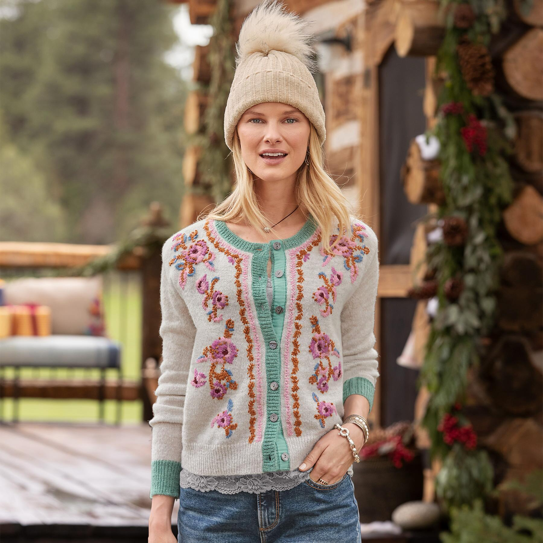 AVIE EMBROIDERED SWEATER: View 1