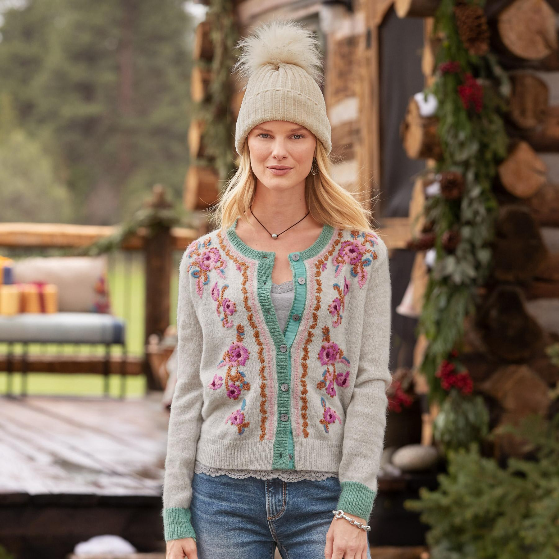 AVIE EMBROIDERED SWEATER - PETITES: View 2