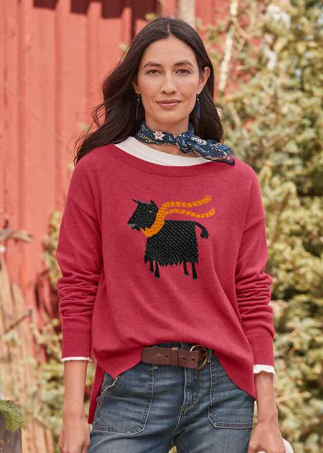 CHEERFUL BILLY SWEATER - PETITES