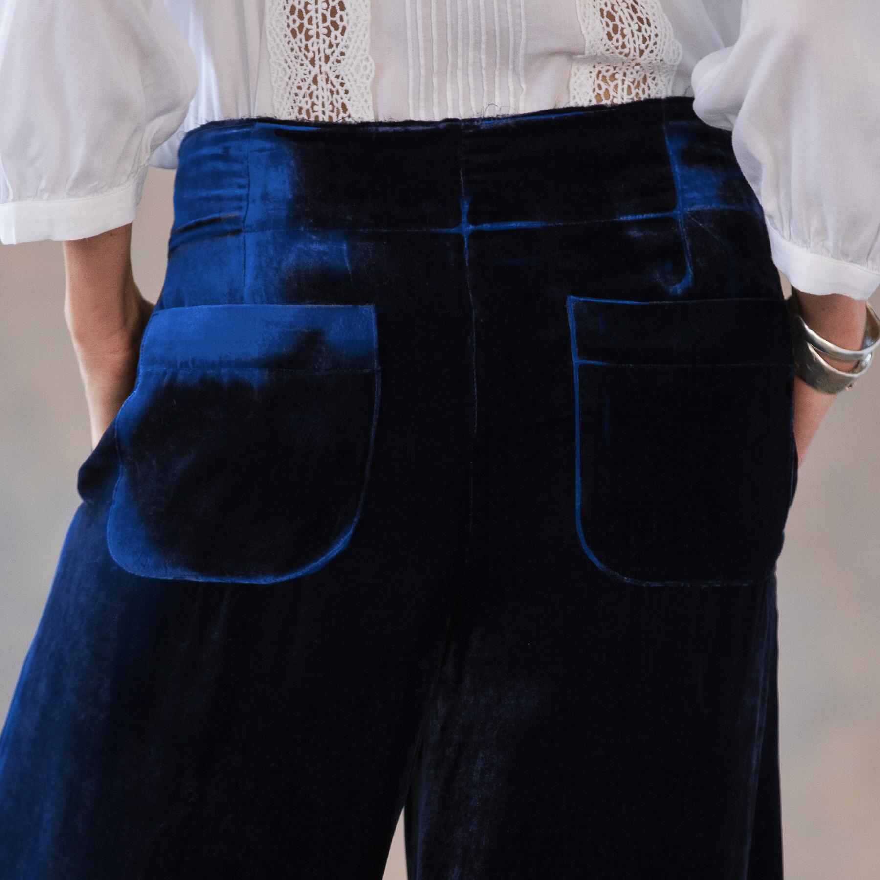 WILLOW VELVET PANTS - PETITES: View 5