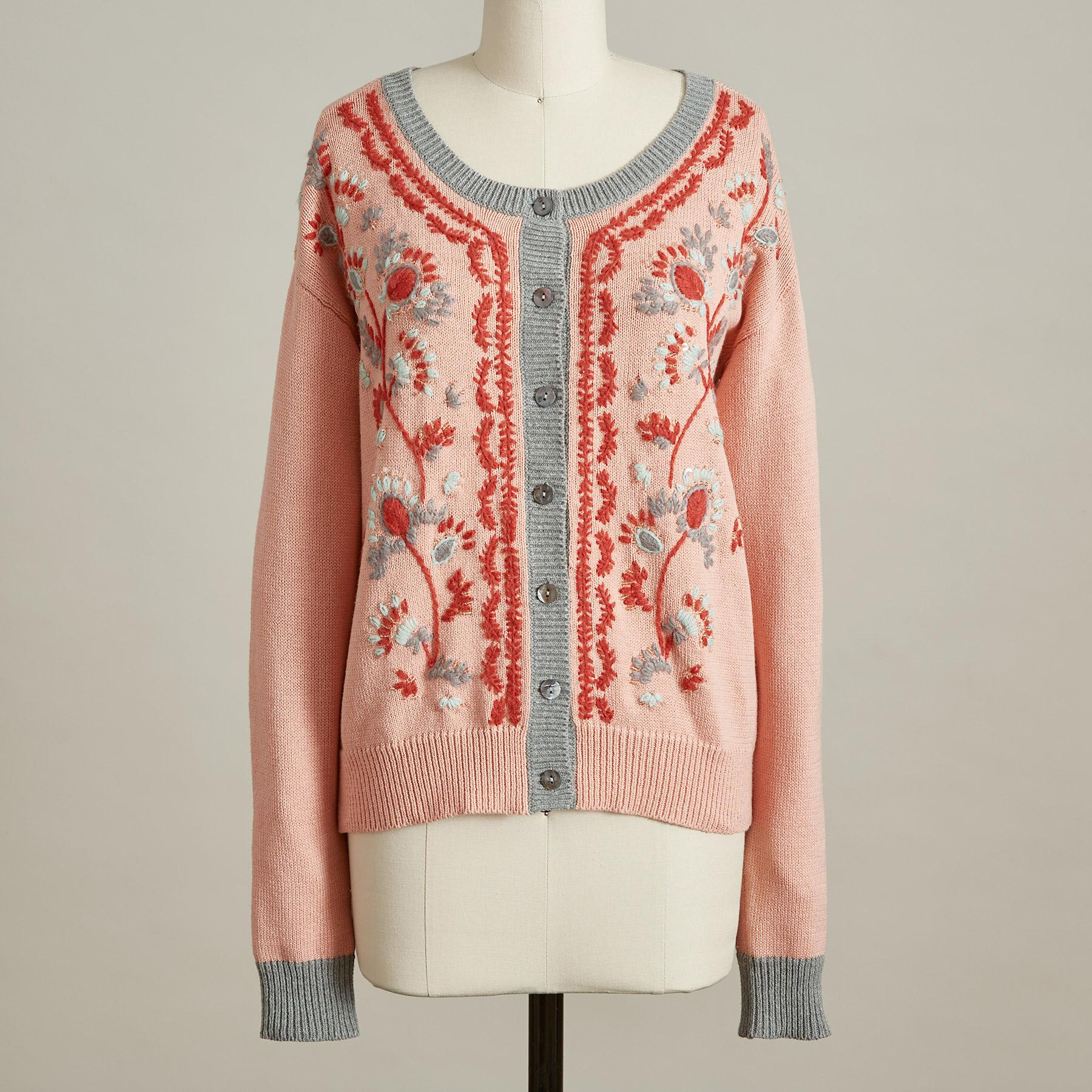 FAITHFUL FLORAL CARDIGAN: View 3